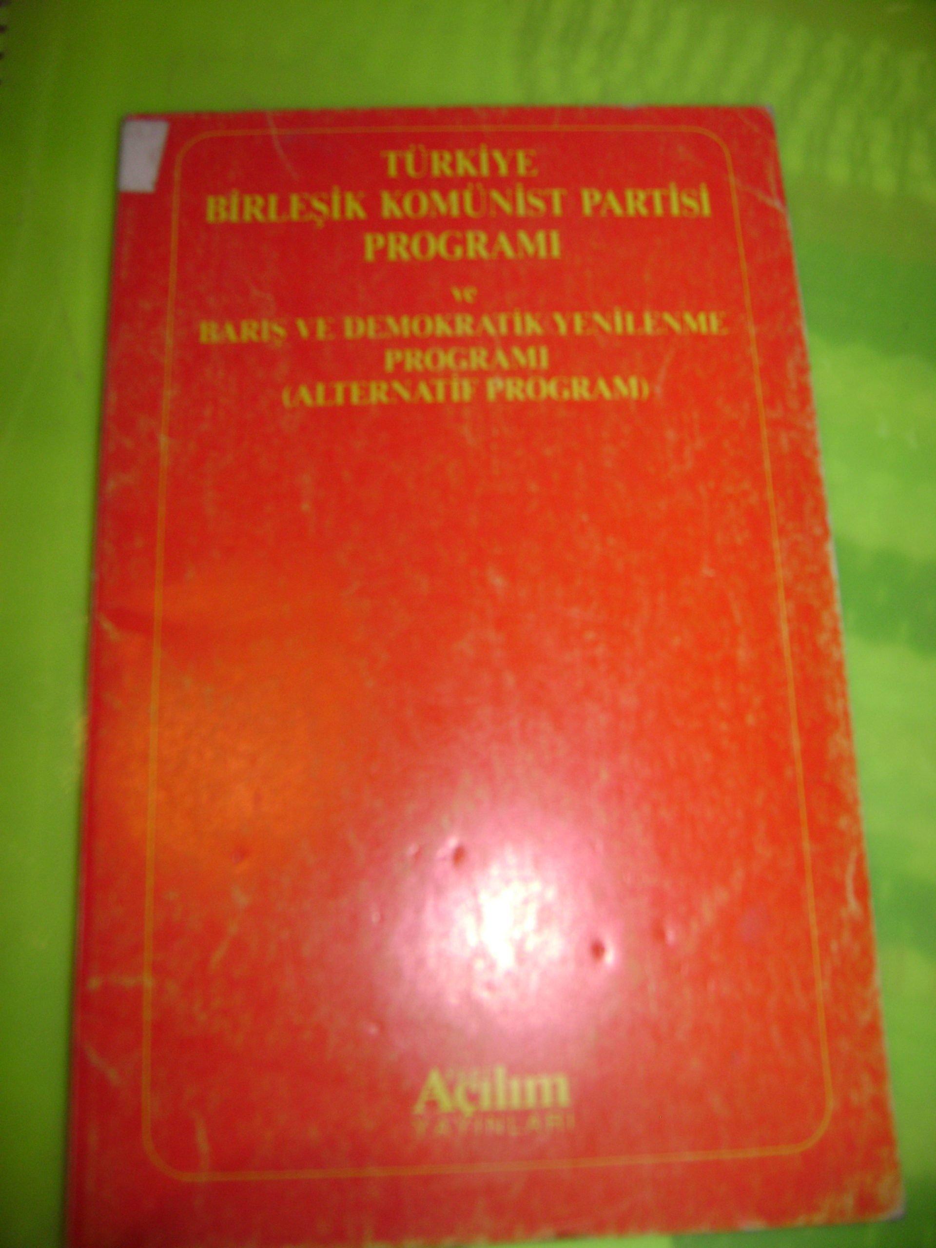 Türkiye Birleşik Komünist Partisi Programı/Açılım yay/10 tl