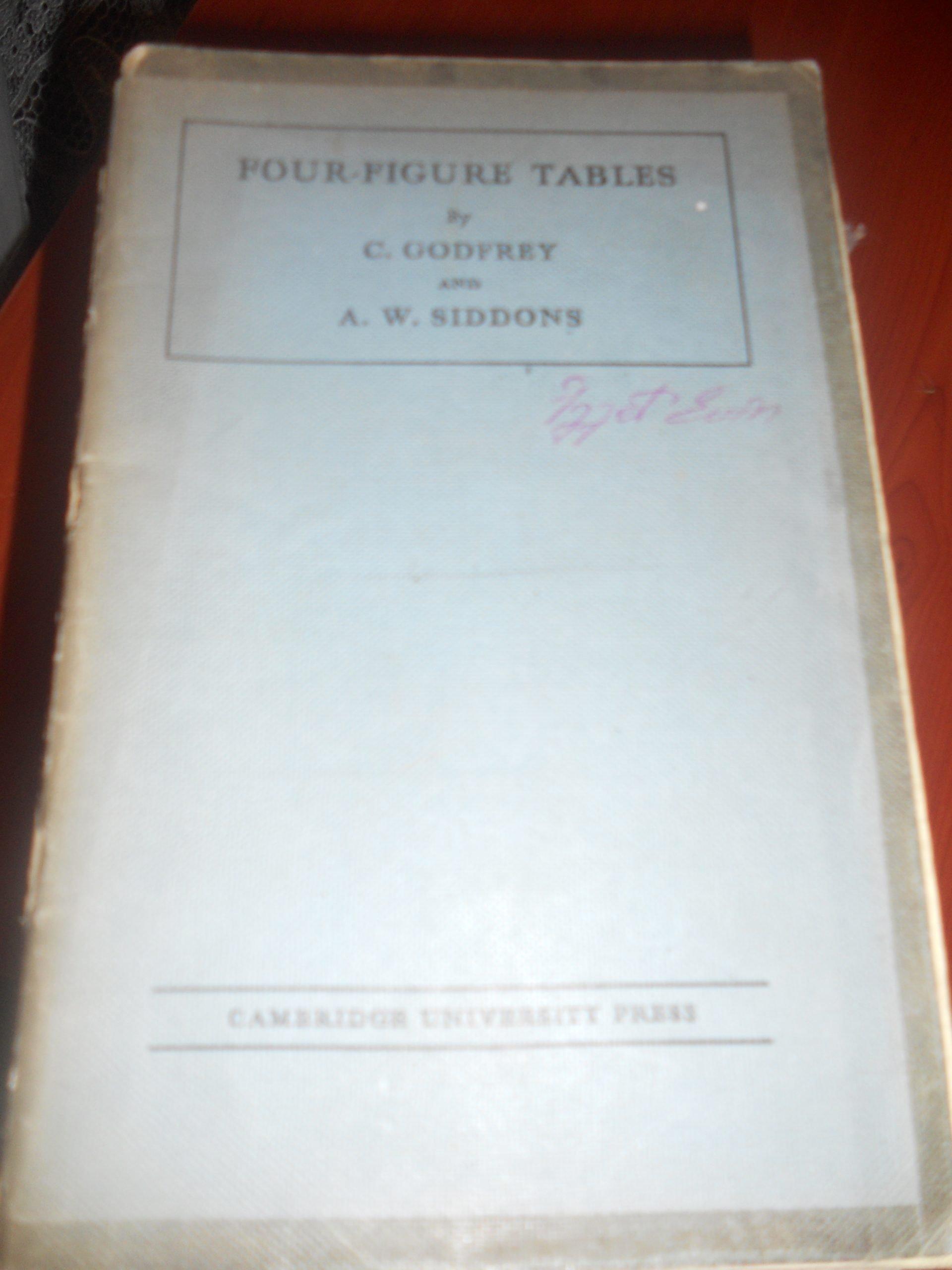 Four Fıgure Tables/ C.Godfrey.A.W Sıddons/20 tl
