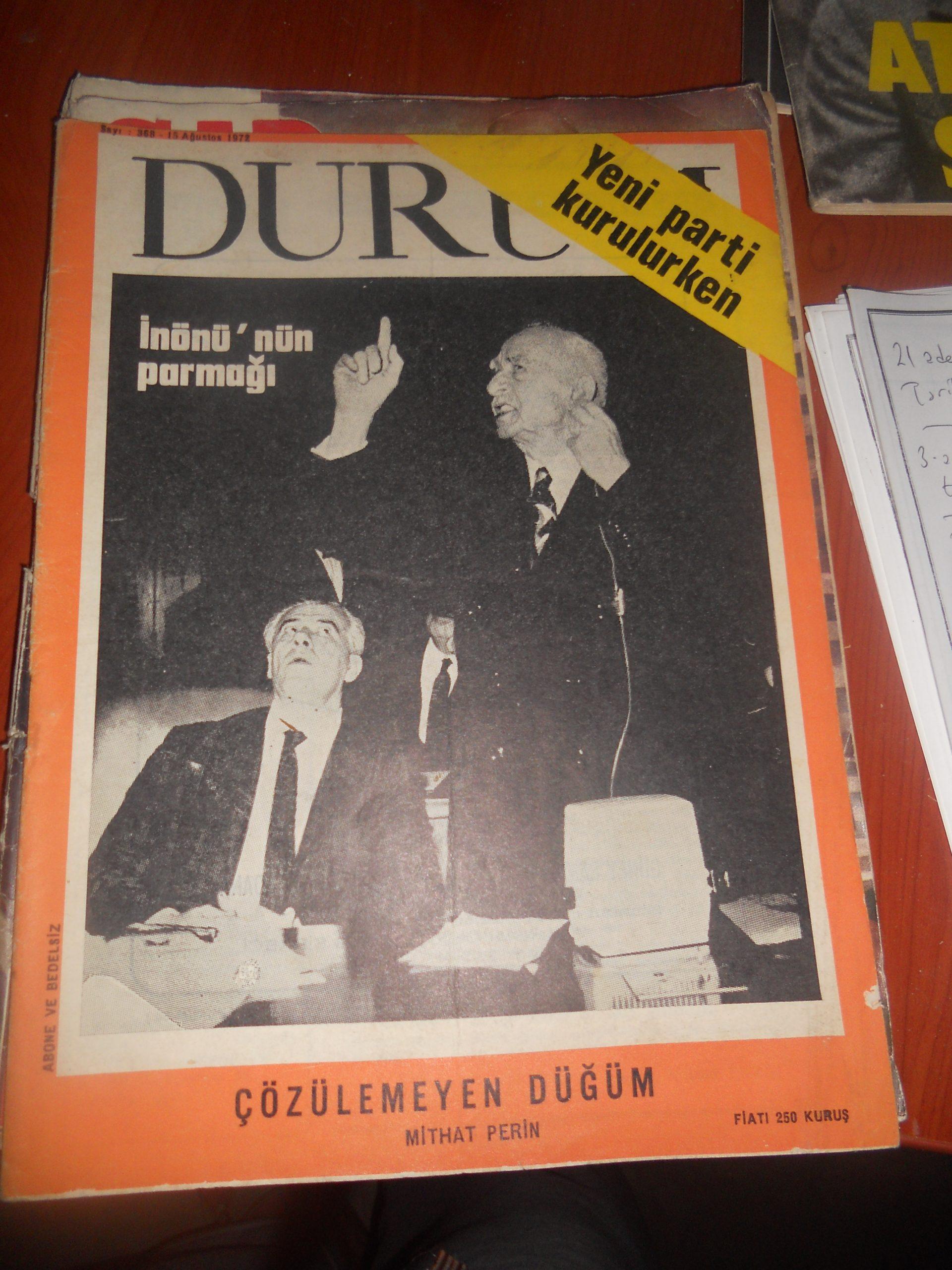DURUM dergisi/6 adet/1973 yılına ait/ toplam30 tl