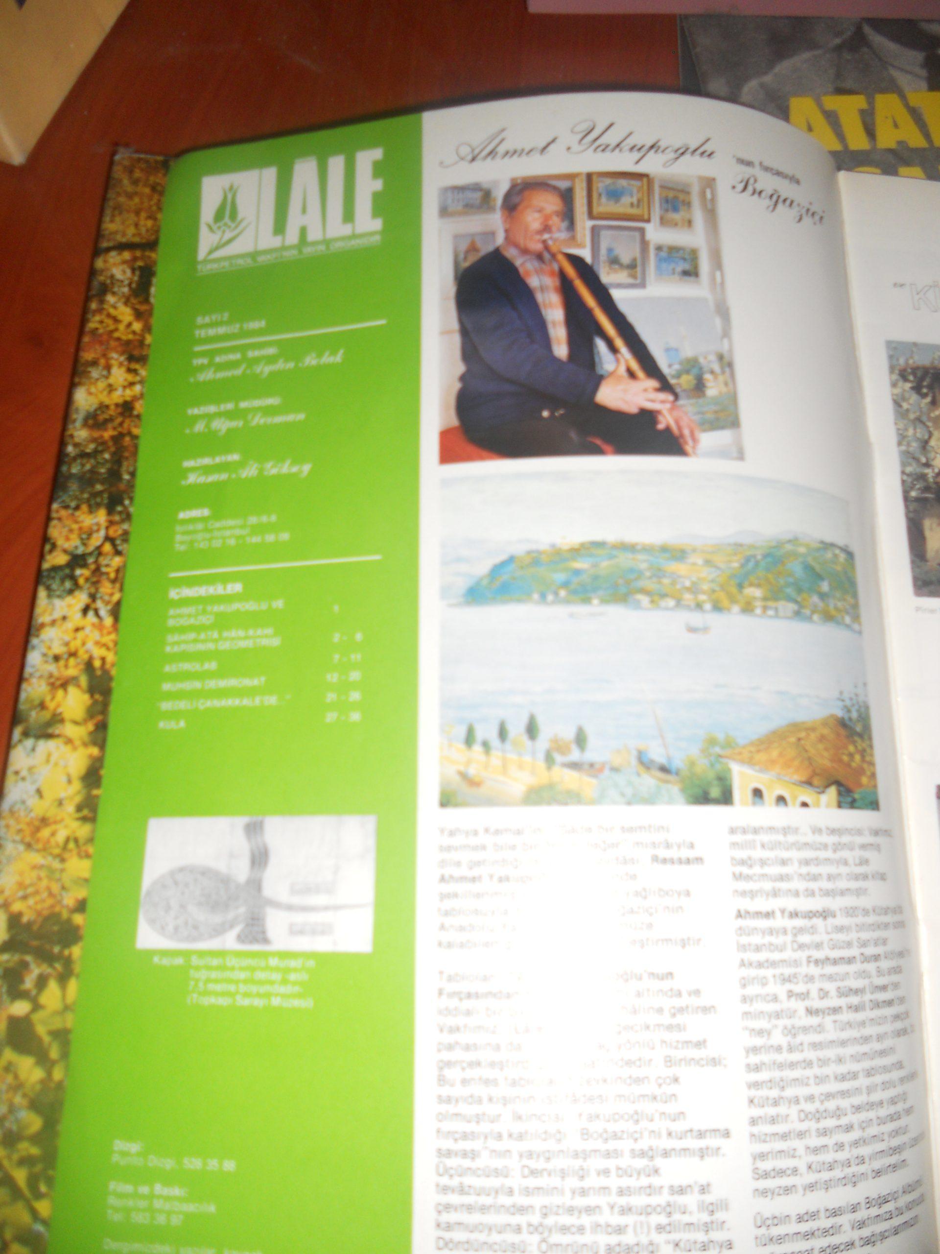 LALE (5 ADET) 1987/İLGİ (2 ADET) 1979/ 7 dergi/Toplam  50 tl