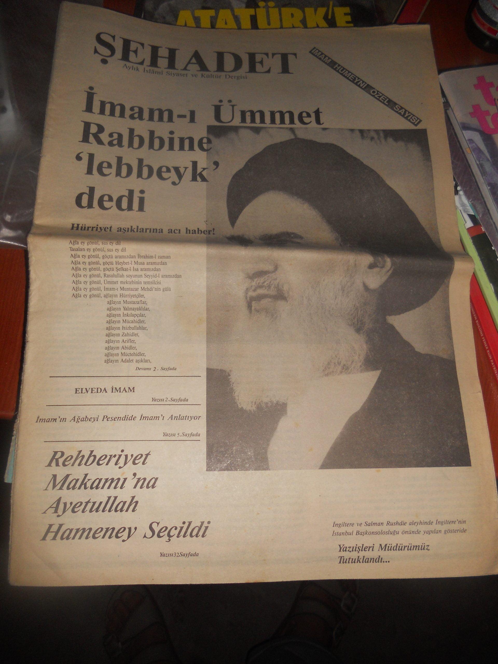 ŞEHADET DERGİSİ/ 1988/9 Adet/ Toplam 45 TL
