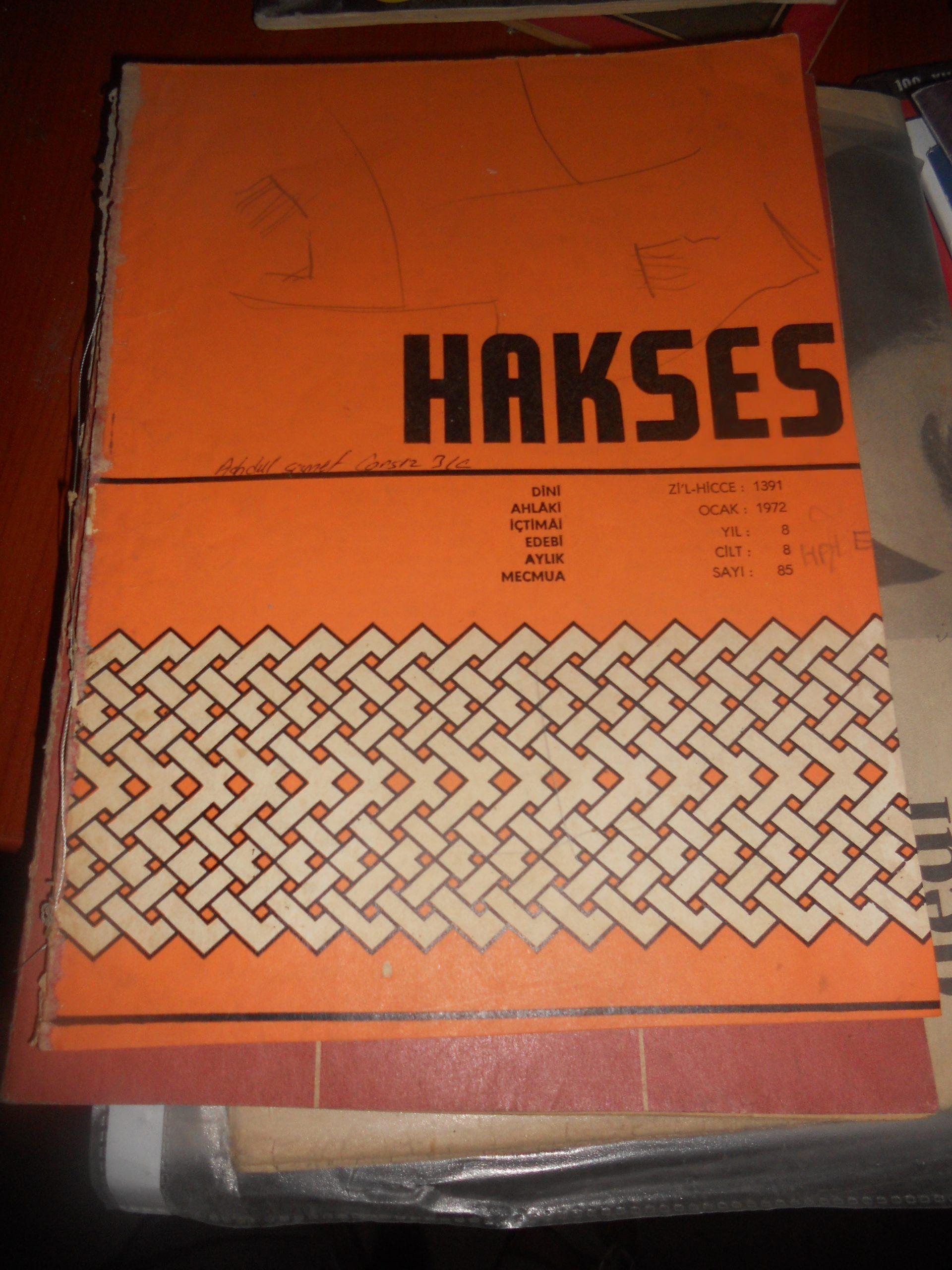 HAKSES DERGİSİ/ 2 adet+Din Öğretimi derg 1 adet/ toplam.15 tl