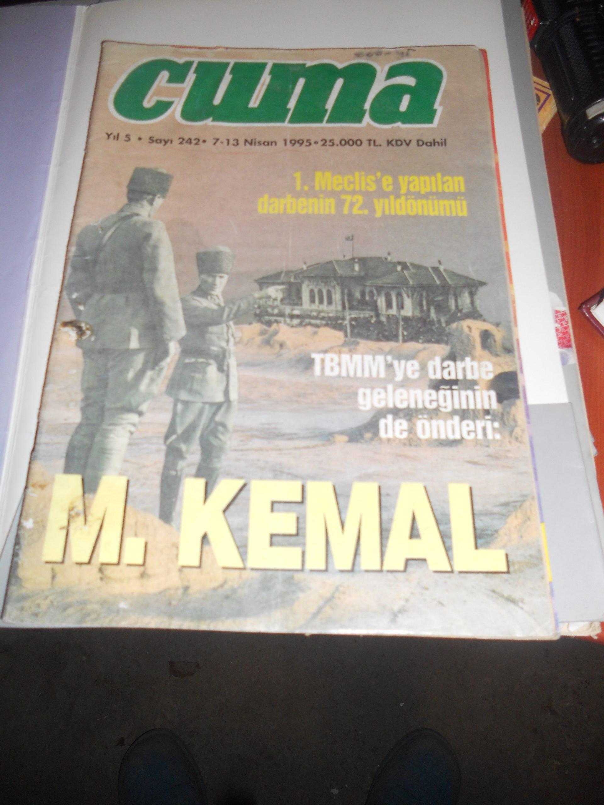 CUMA  DERG/1991-1995/4 adet/ Toplam20 tl