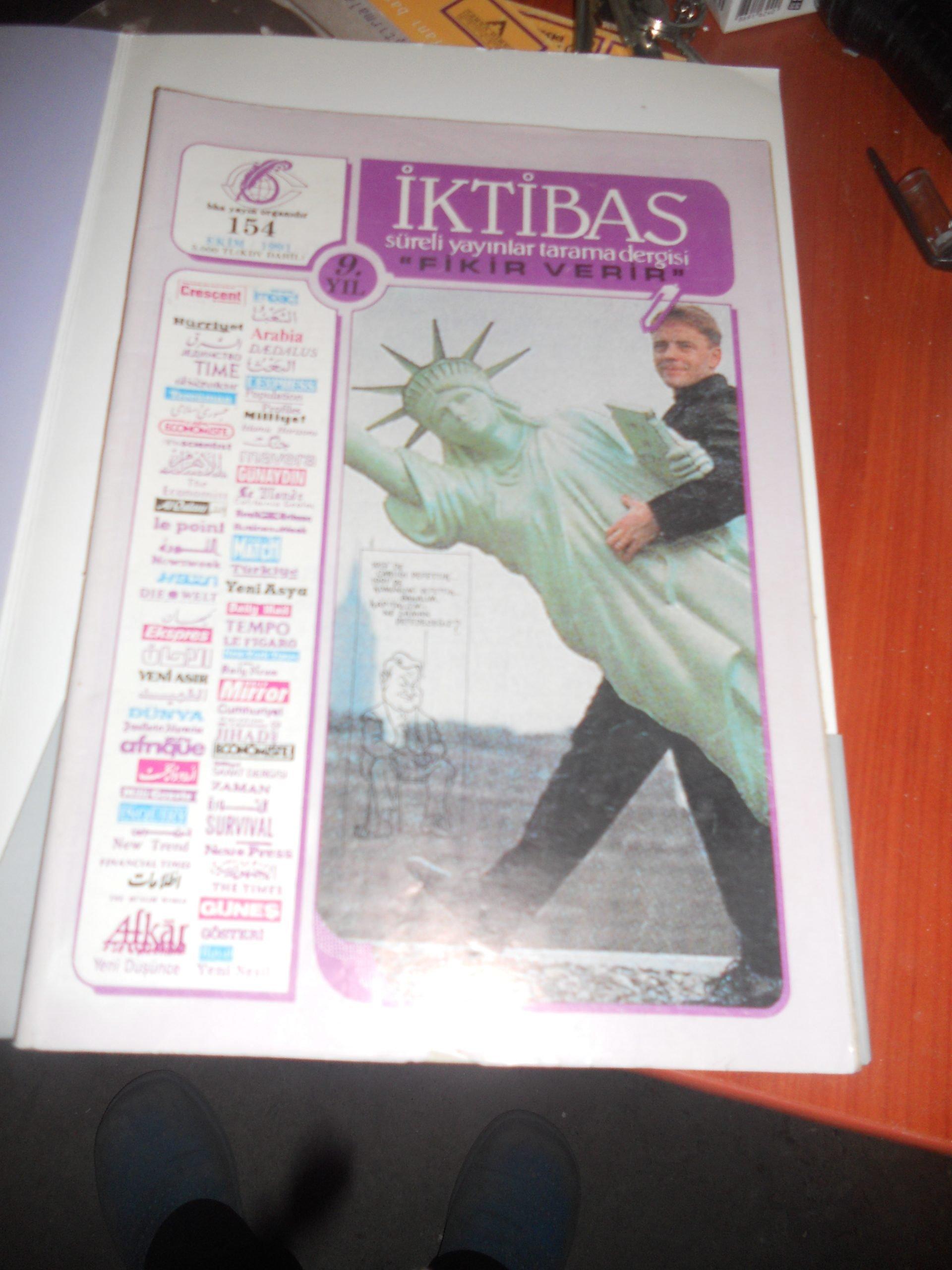 İKTİBAS DERGİSİ /1991/ 5 ADET/ TOPLAM.25 tl