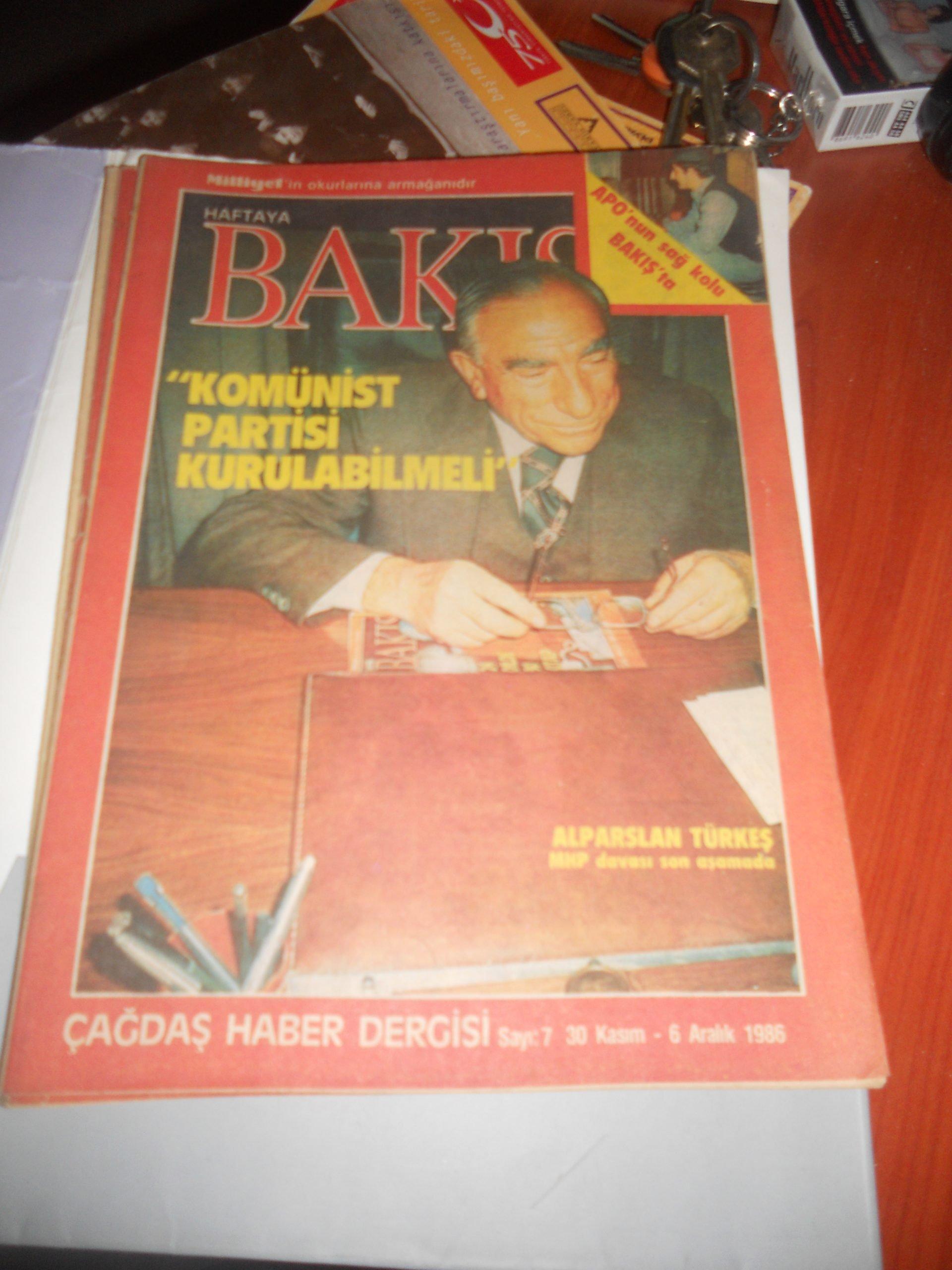 Haftaya Bakış-1994-1995 -16 adet/Haftaya Bakış milliyet gaz.ek 4 adet /toplam 50 tl