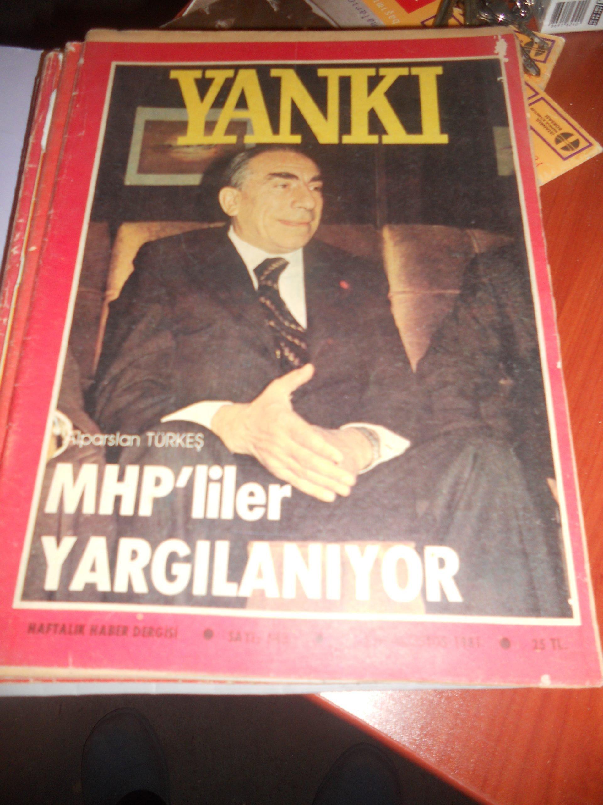 YANKI DERGİSİ/ 9 ADET/ 1980-1984 ARASI/ Toplam 45 tl