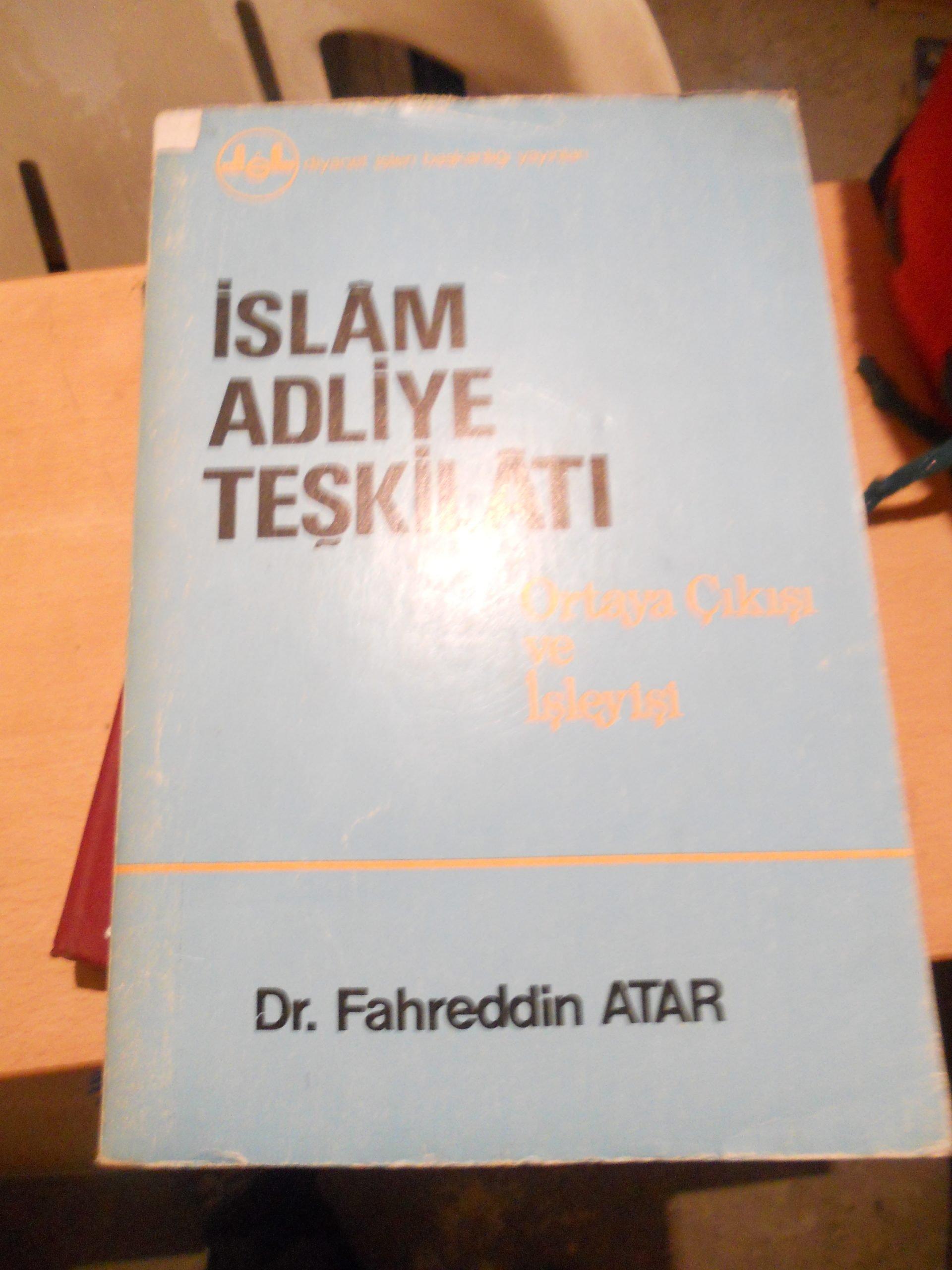 İSLAM ADLİYE TEŞKİLATI/Fahreddin ATAR/20 tl