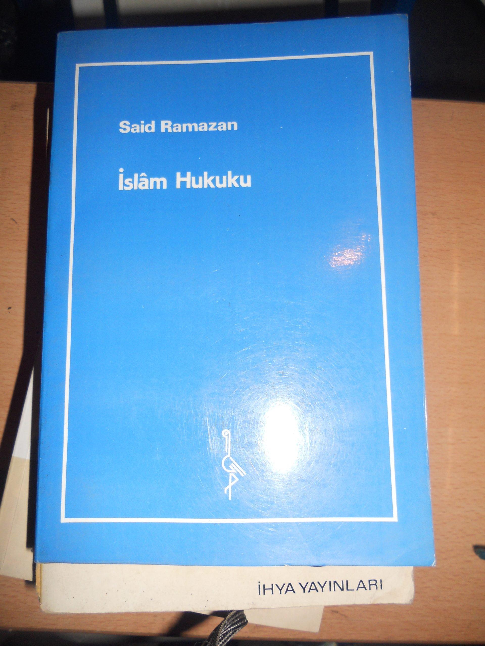 İSLAM HUKUKU/Said Ramazan/ 15 tl