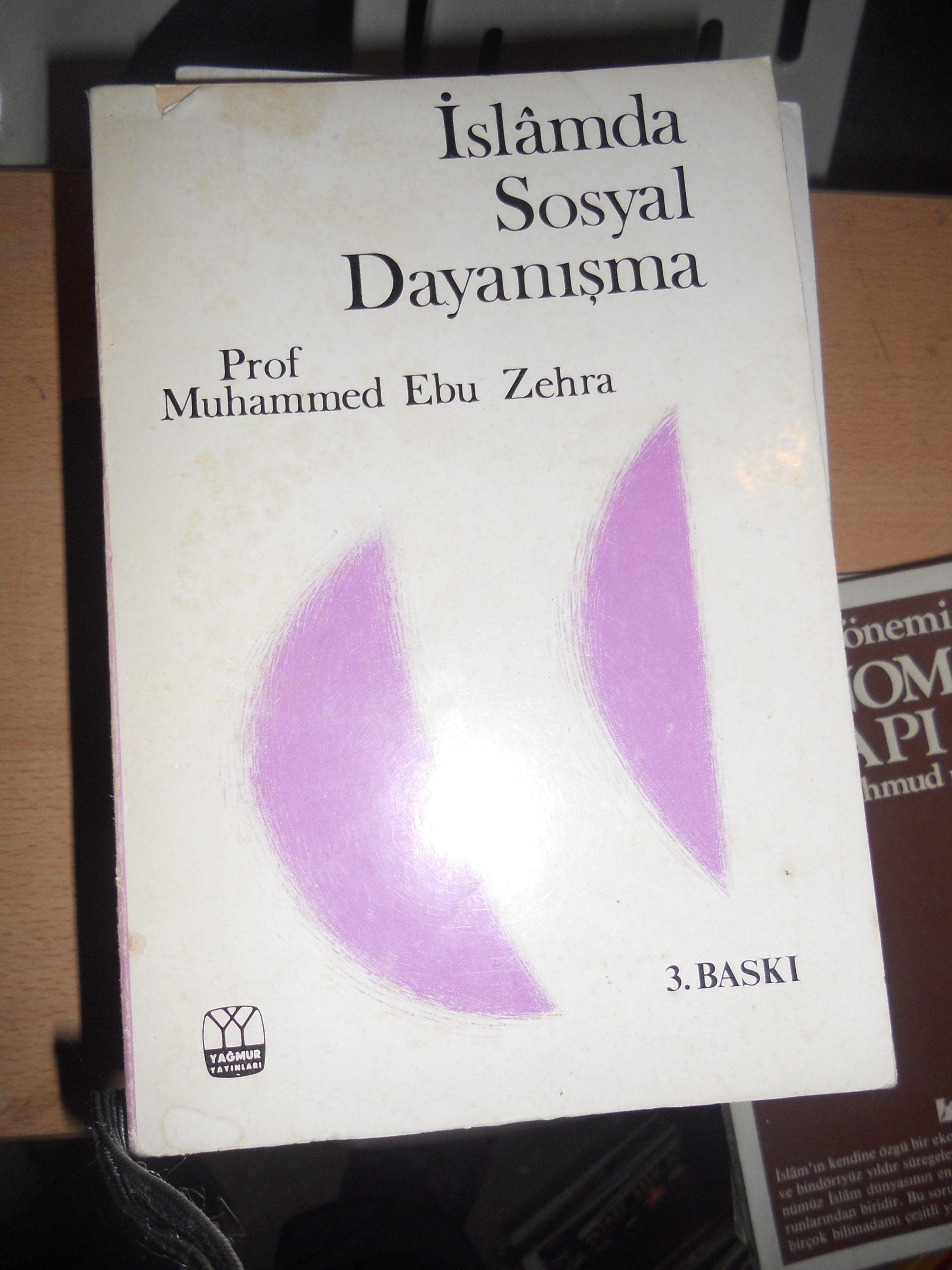 İSLAMDA SOSYAL DAYANIŞMA/Muhammed Ebu Zehra/ 7,5 tl(satıldı)