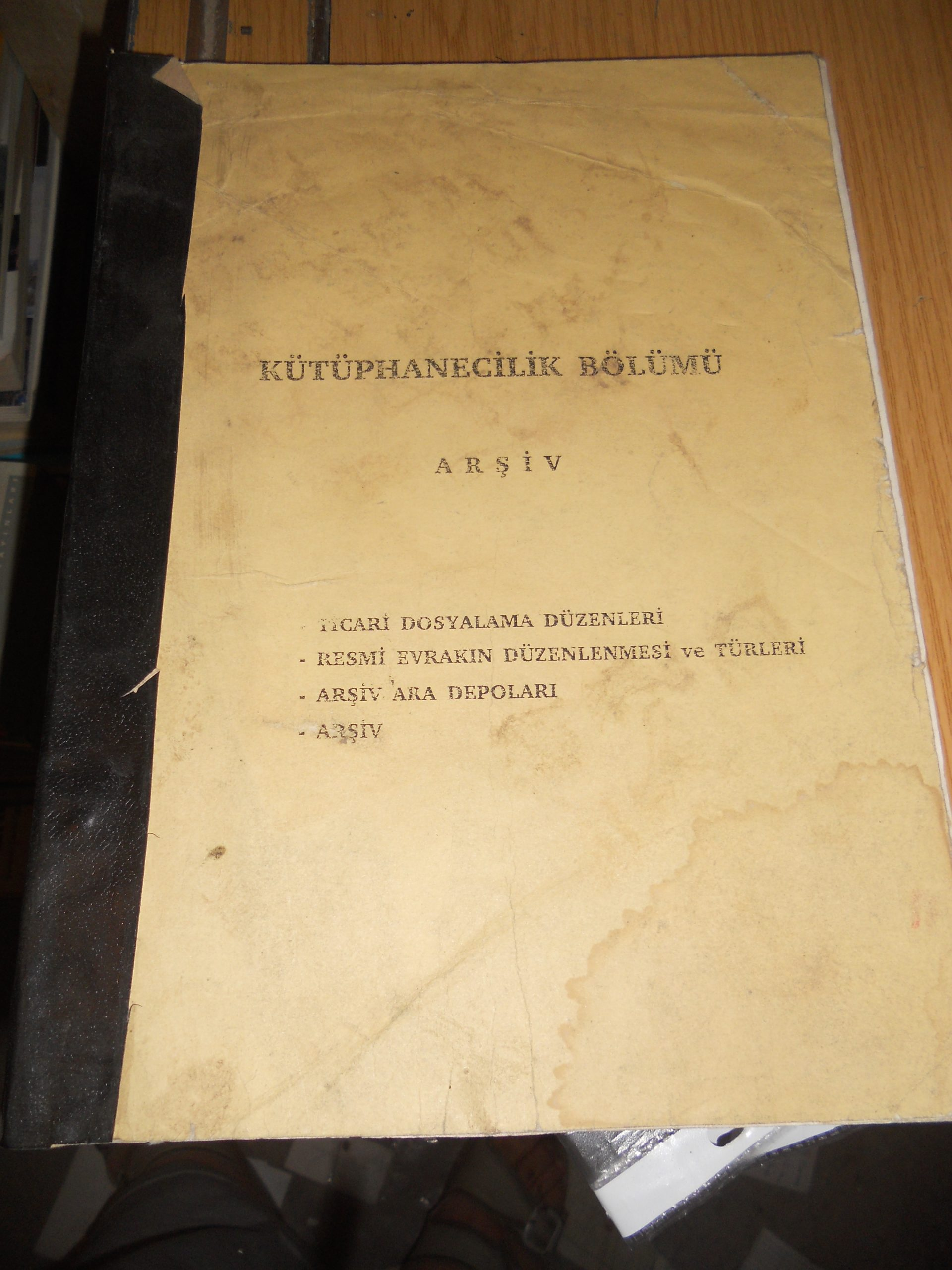 KÜTÜPHANECİLİK BÖLÜMÜ-ARŞİV-/20TL