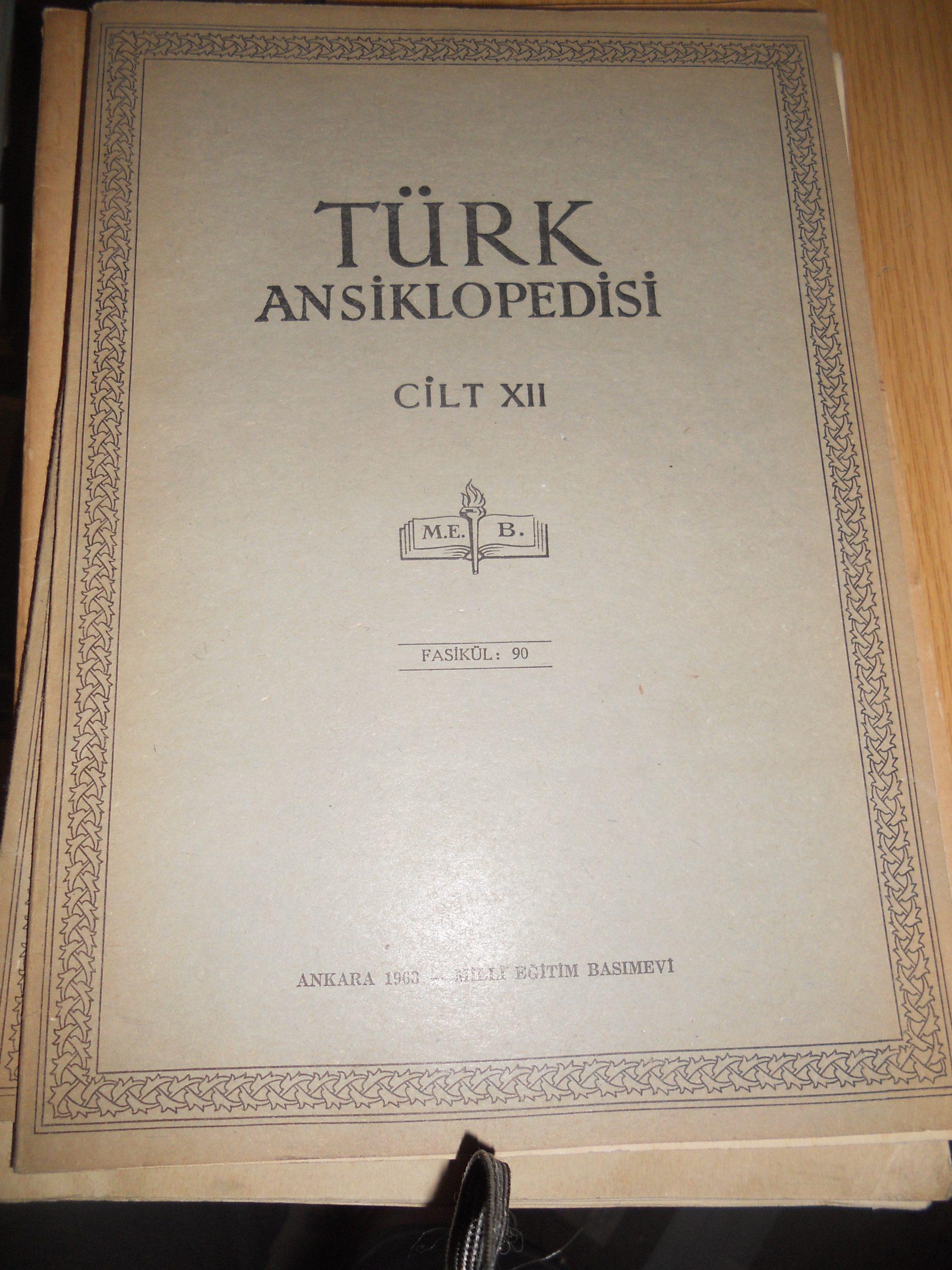 TÜRK ANSIKLOPEDİSİ-74-89-90- FASİKÜL/TOPLAM 30 TL
