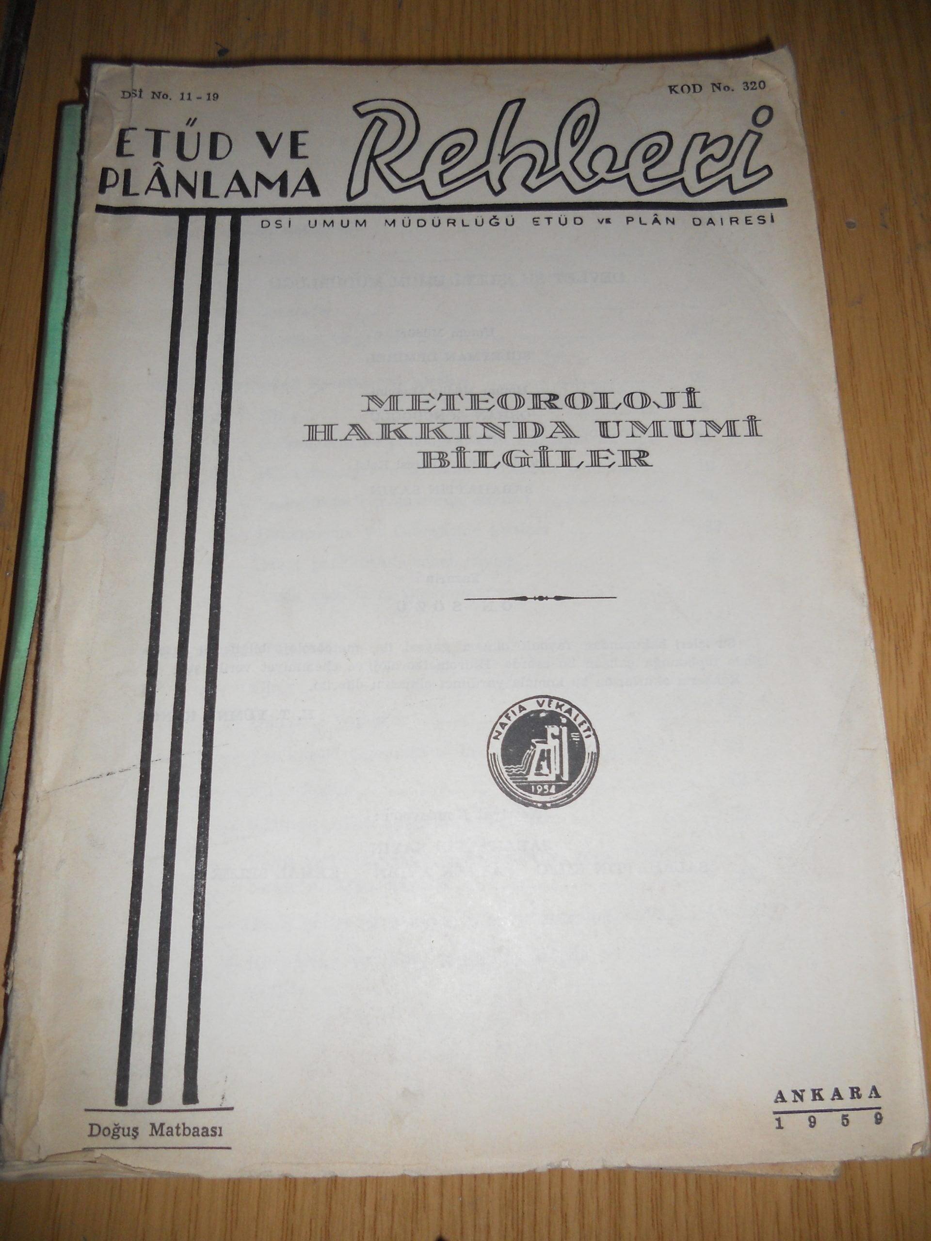 METEOROLOJİ HAKKINDA UMUMİ BİLGİLER/ 25 TL