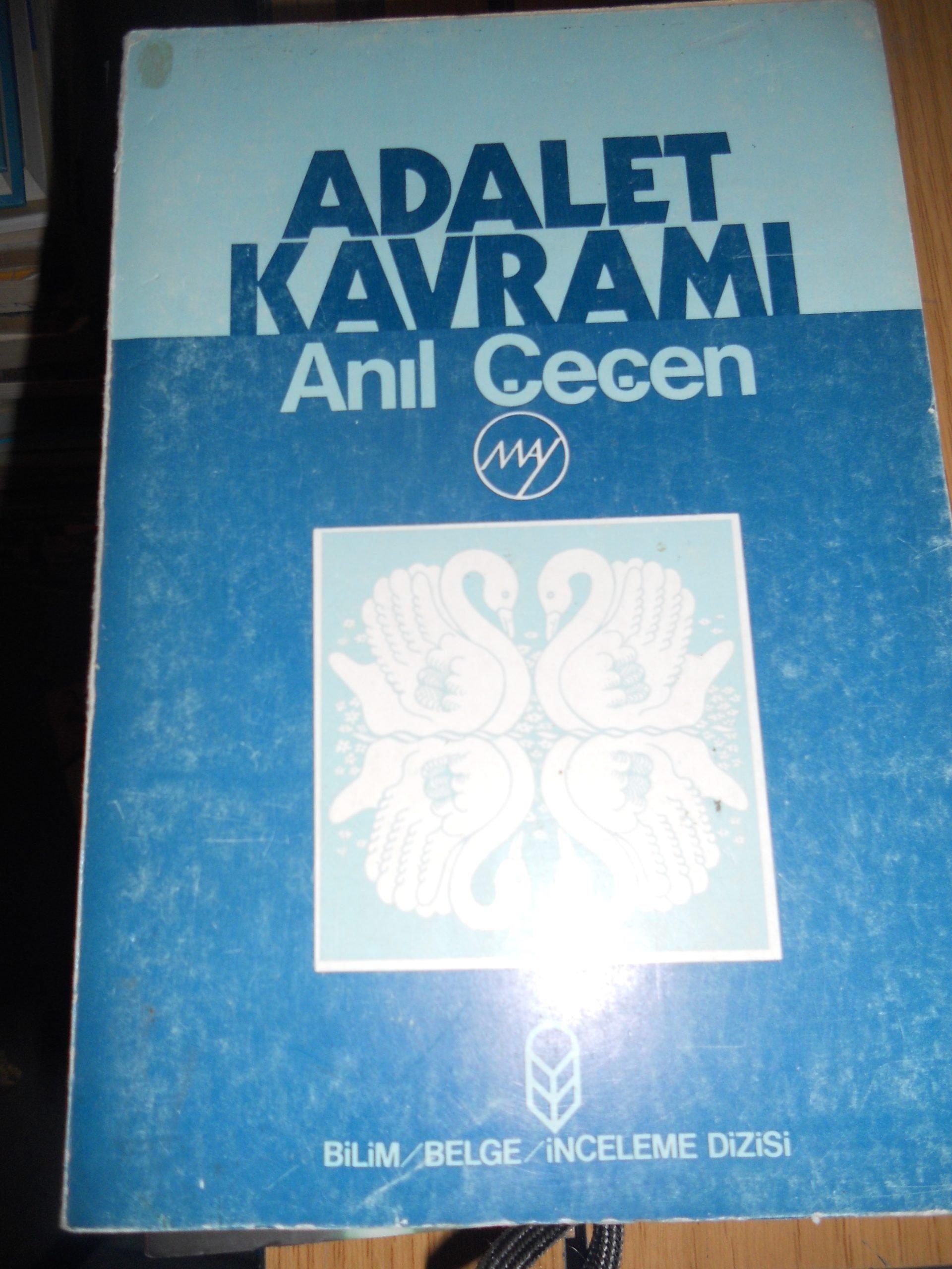 ADALET KAVRAMI/Anıl ÇEÇEN/ 20TL