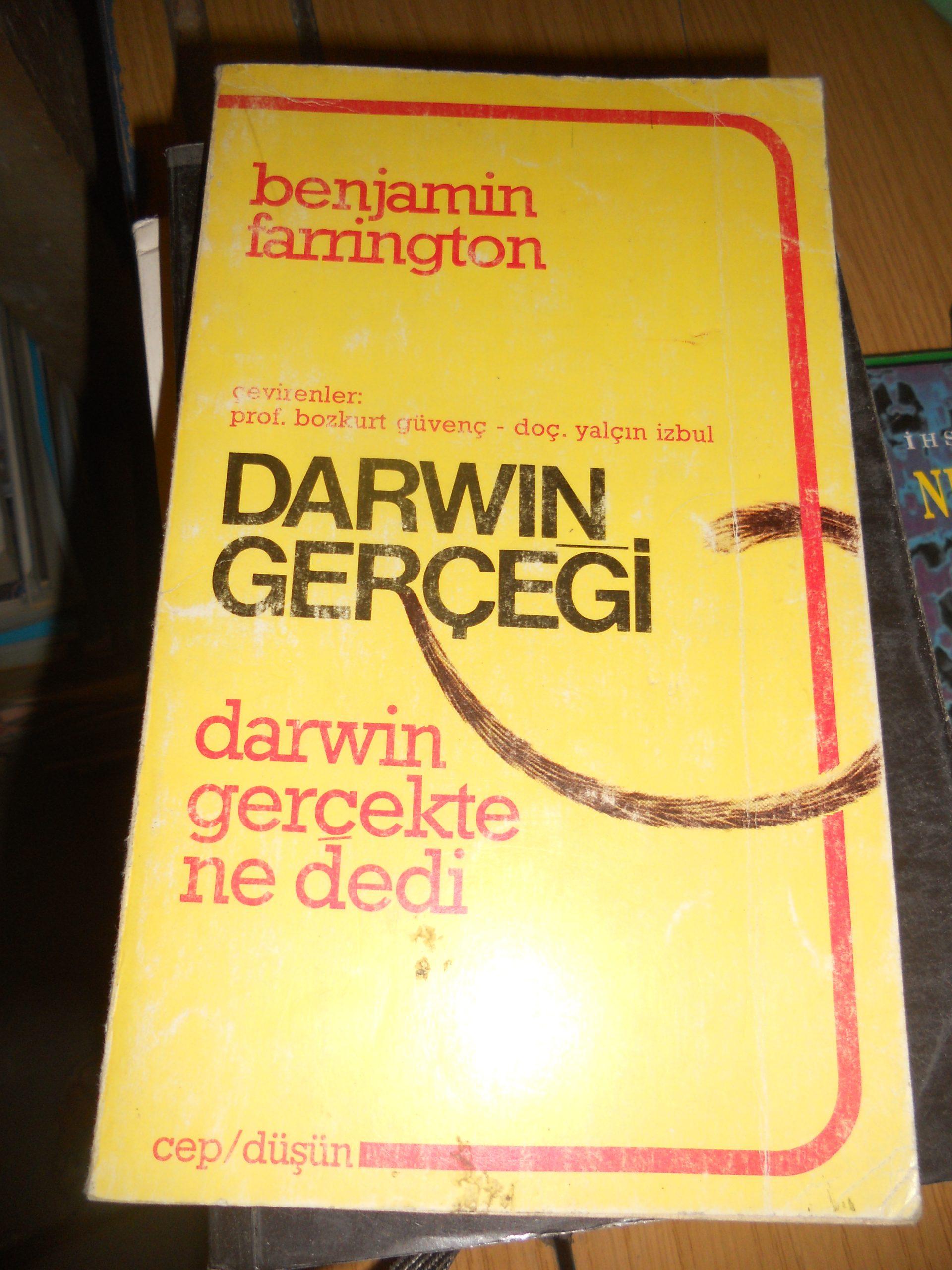 DARWIN GERÇEĞİ/Benjamin FARRINGTON/10 tl