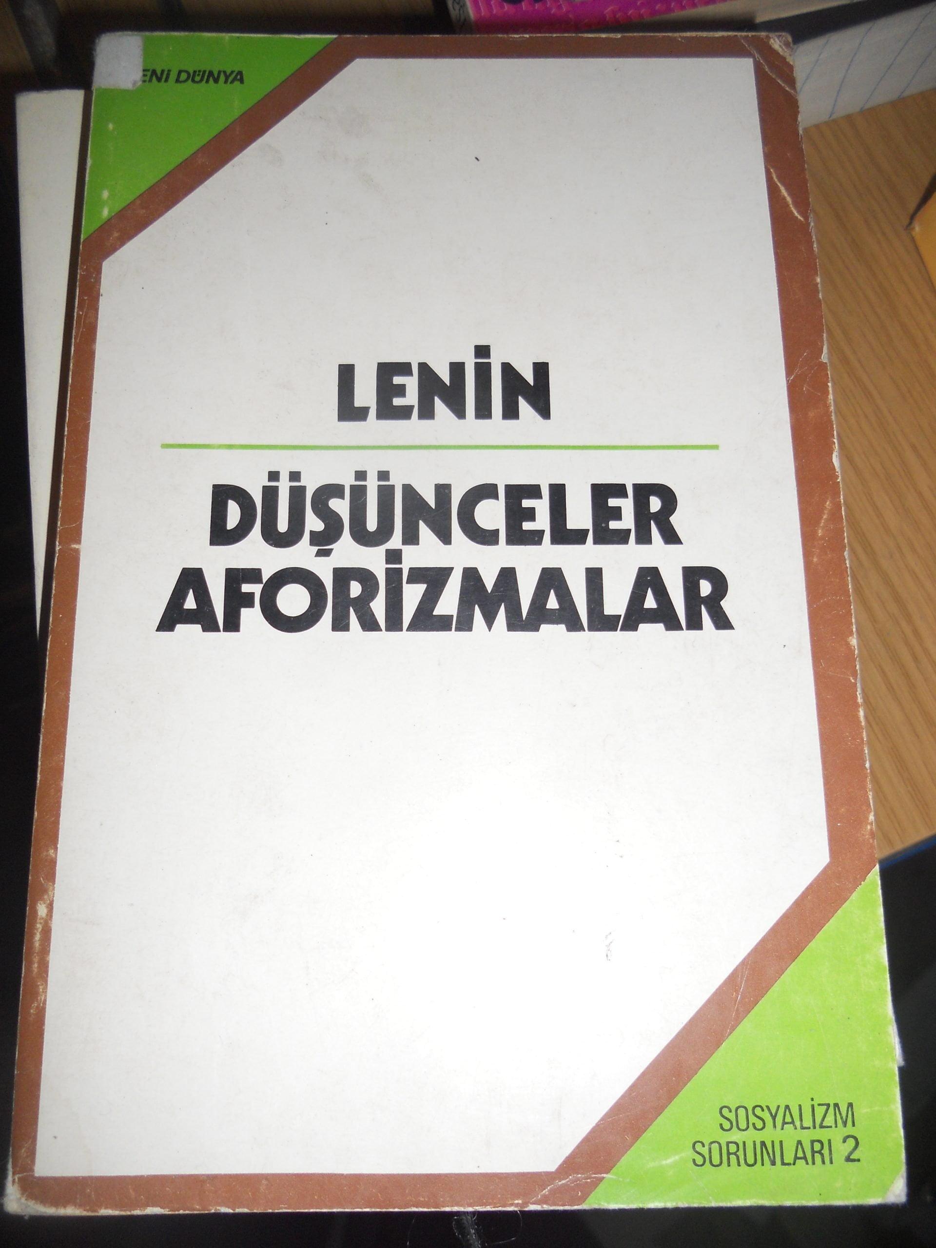 DÜŞÜNCELER AFORİZMALAR/LENİN/15 TL