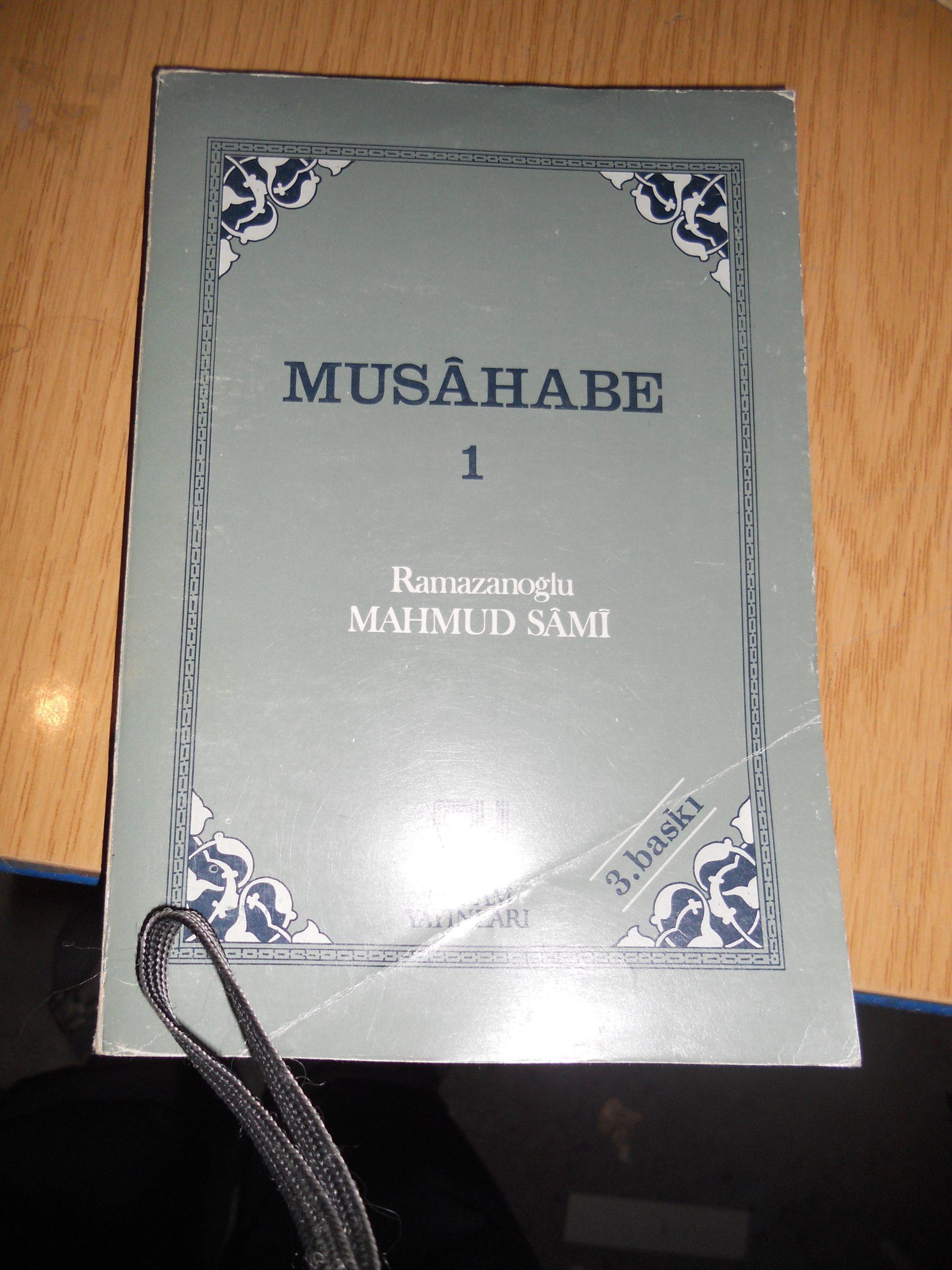 MUSAHABE-1 ve 5/ Ramazanoğlu Mahmud Sami/ iki kitap toplam.15 tl