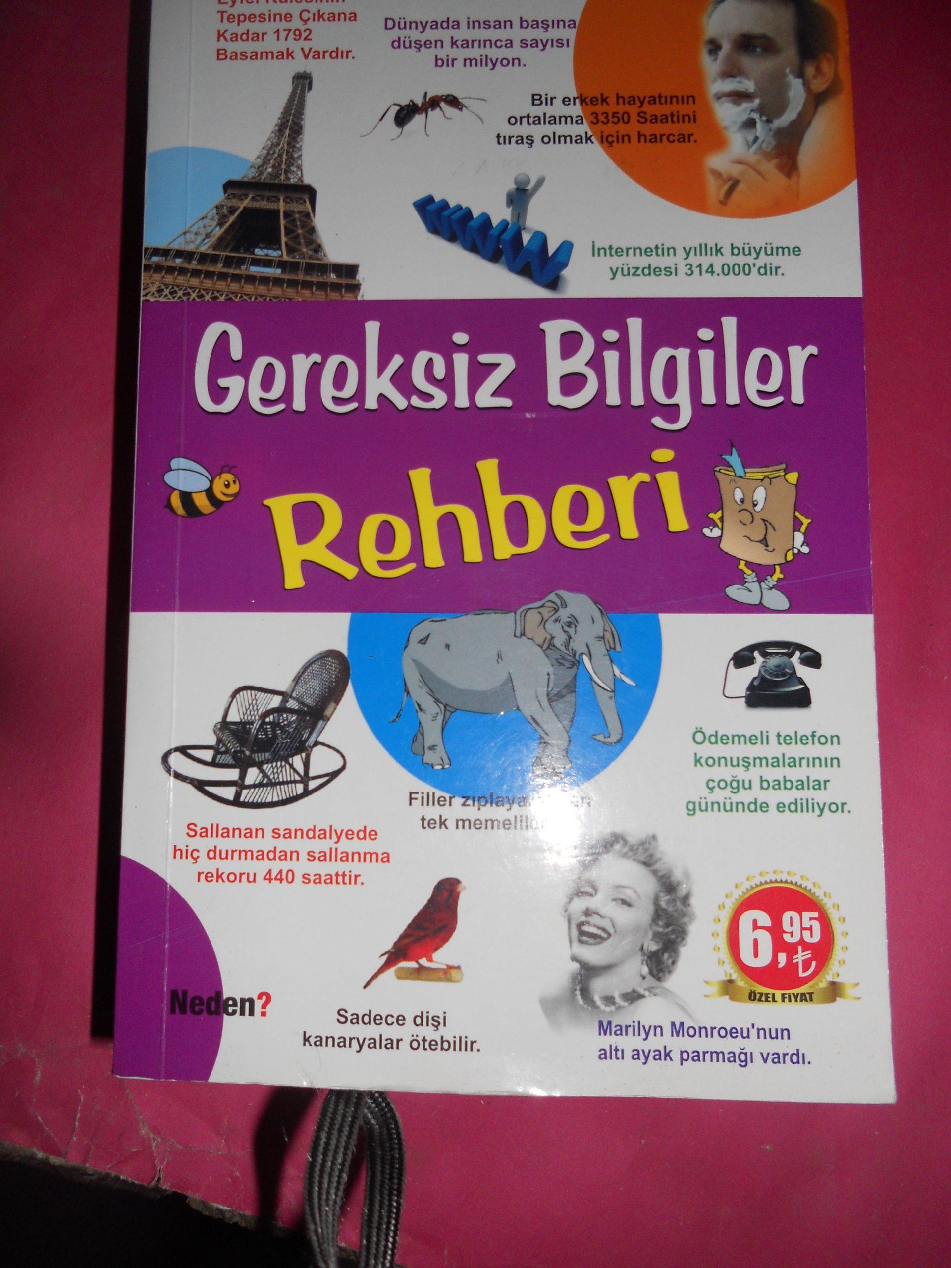GEREKSİZ BİLGİLER REHBERİ/Zeki KANMAZ/10 TL