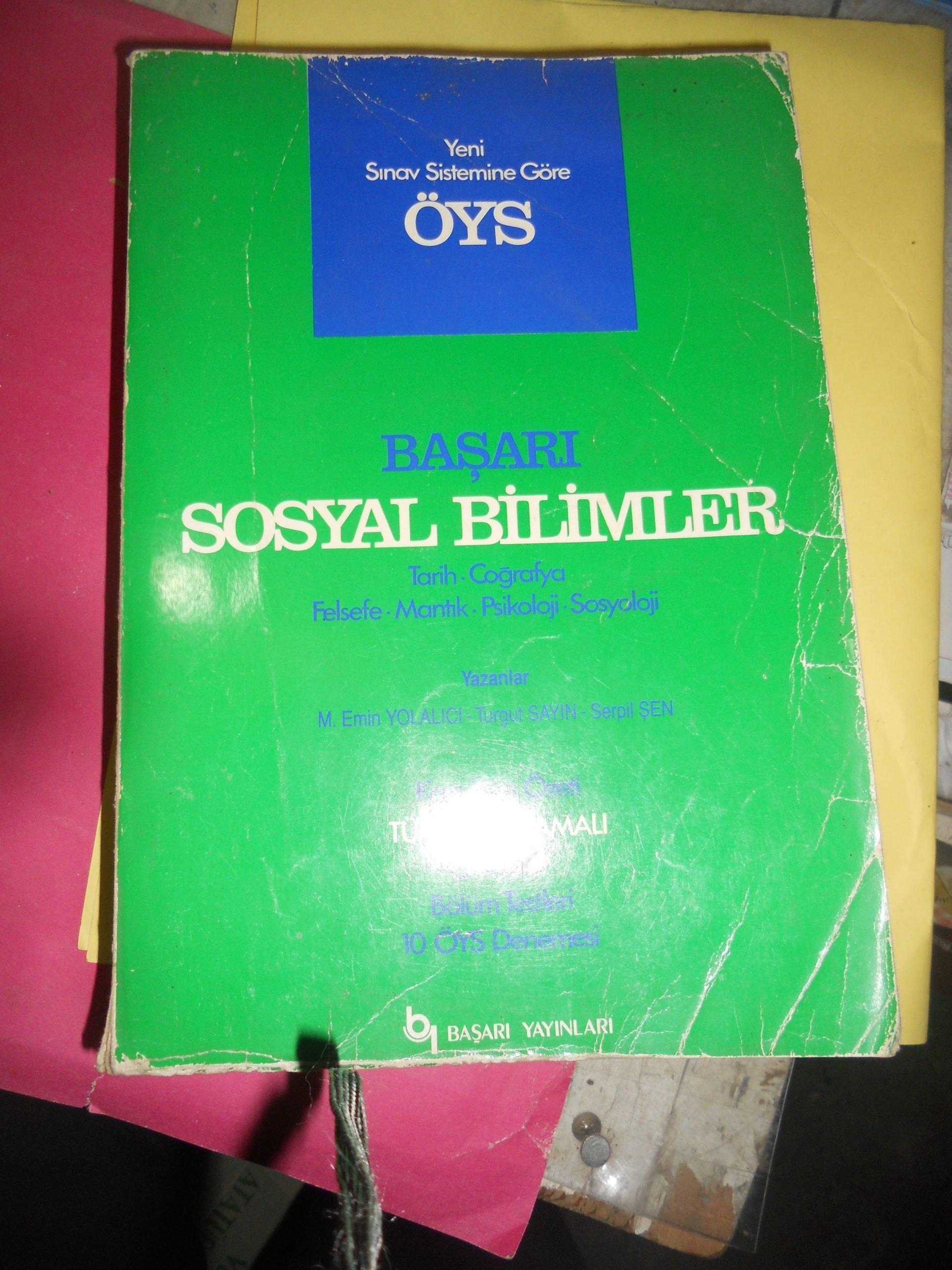 ÖYS BAŞARI SOSYAL BİLİMLER/BAŞARI YAY/ 15 TL
