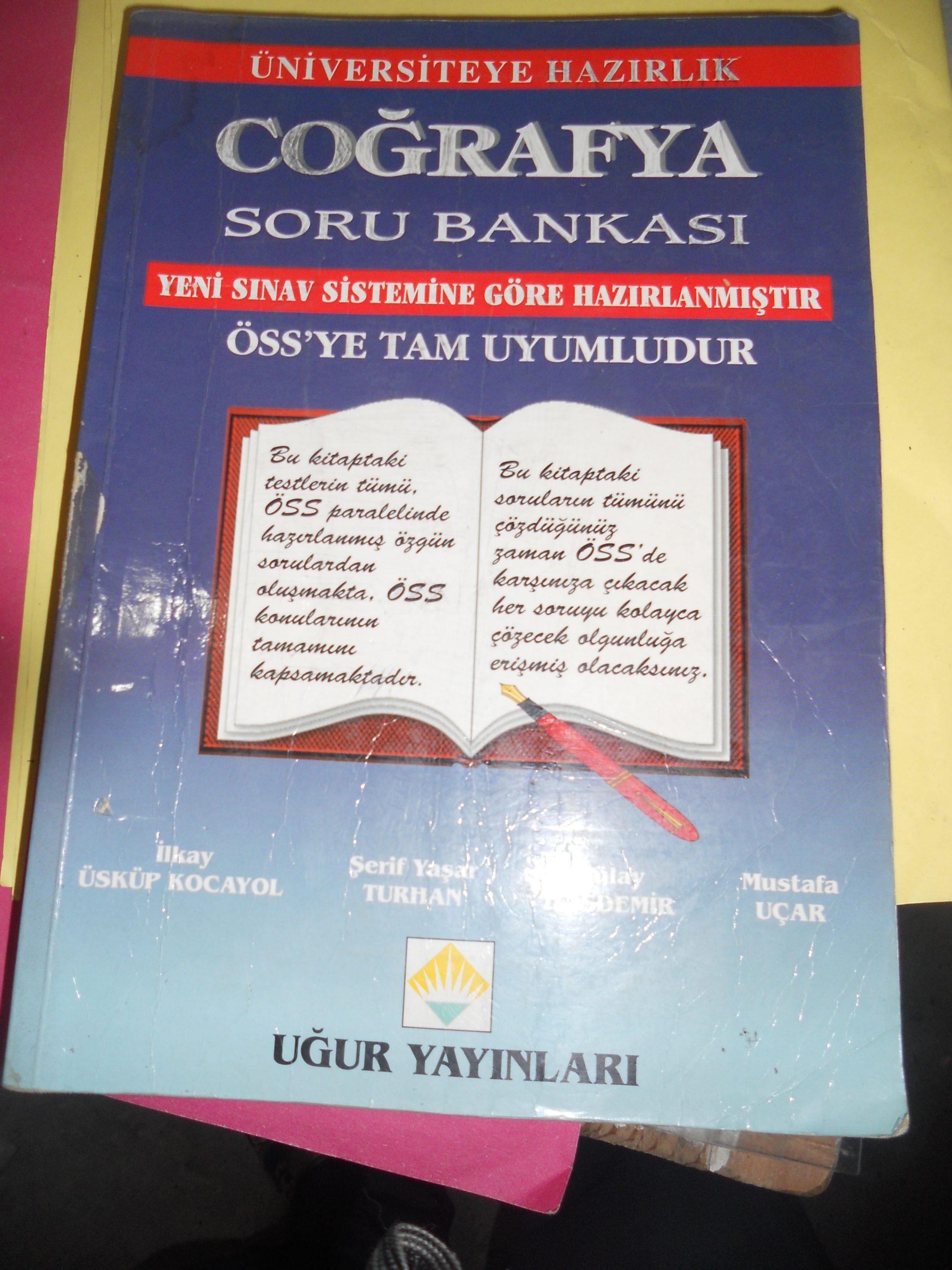 ÜNİVERSİTEYE HAZIRLIK-COĞRAFYA SORU BANKASI/UĞUR YAY/15TL