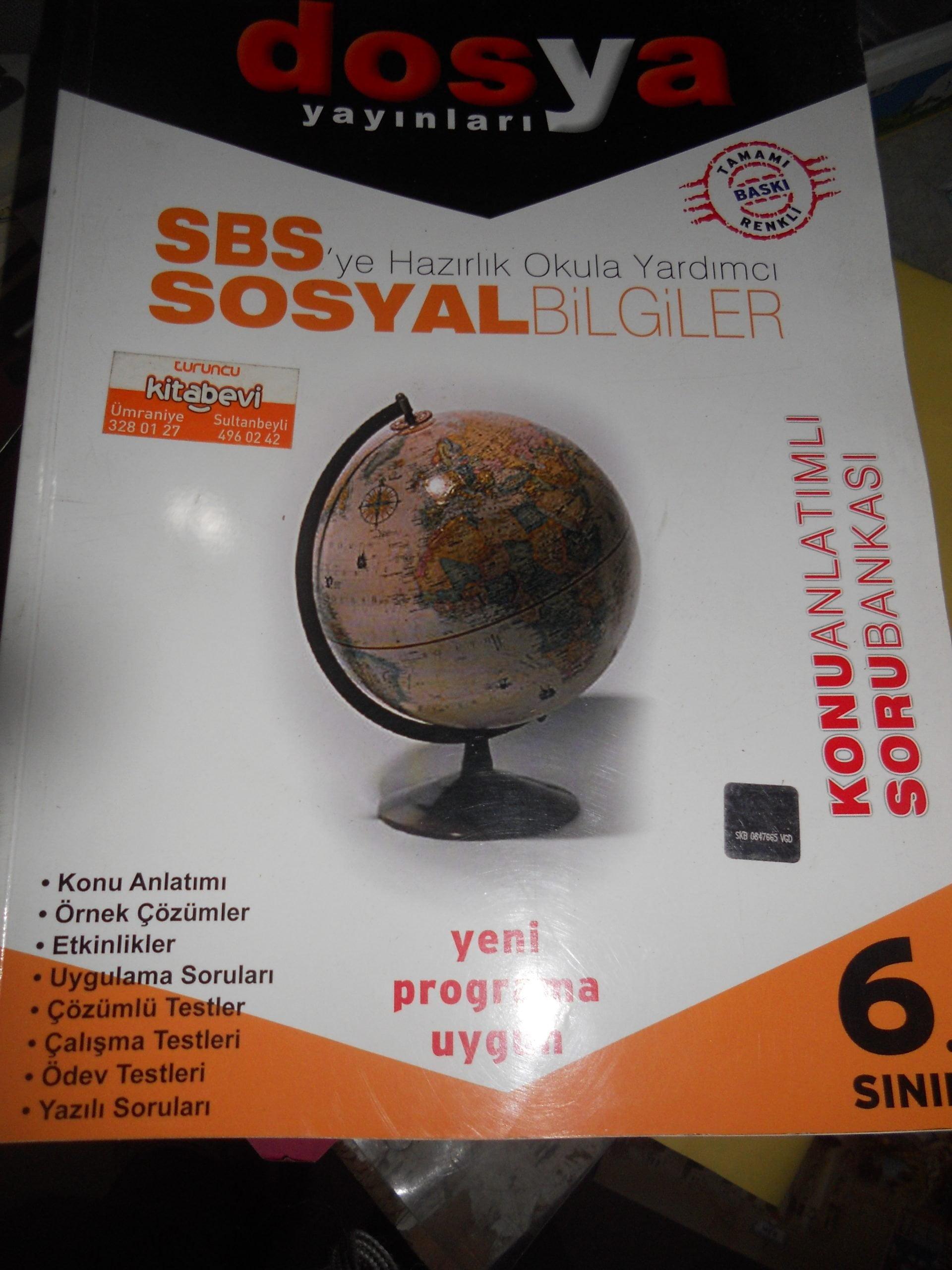 6.SINIF  SOSYAL BİLGİLER-Konu anlatımlı Soru Bankası/DOSYA YAY/15TL