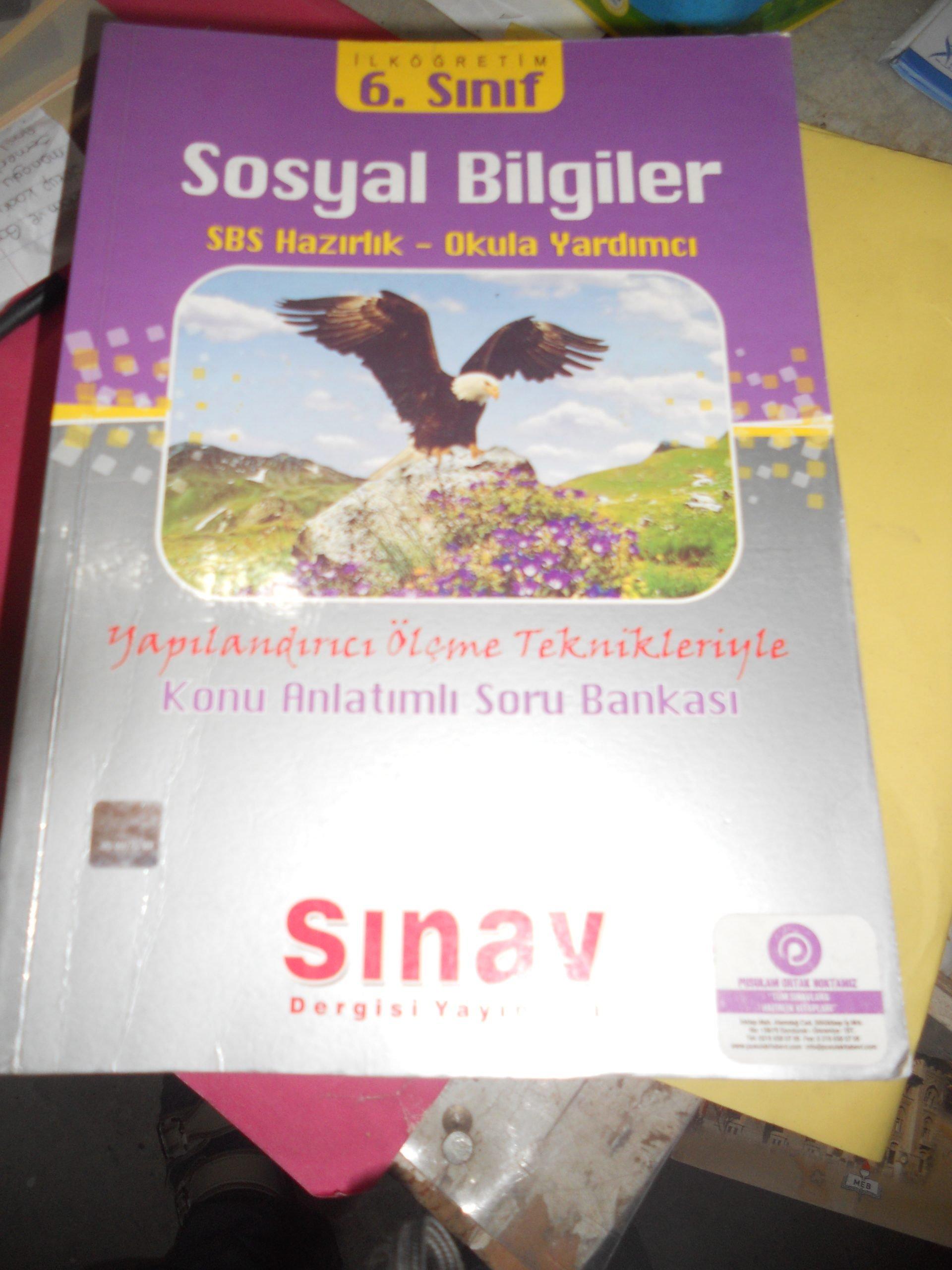 6.SINIF Sosyal Bilgiler Konu Anlatımlı Soru Bankası/SINAV DERGİSİ YAY/ 15TL