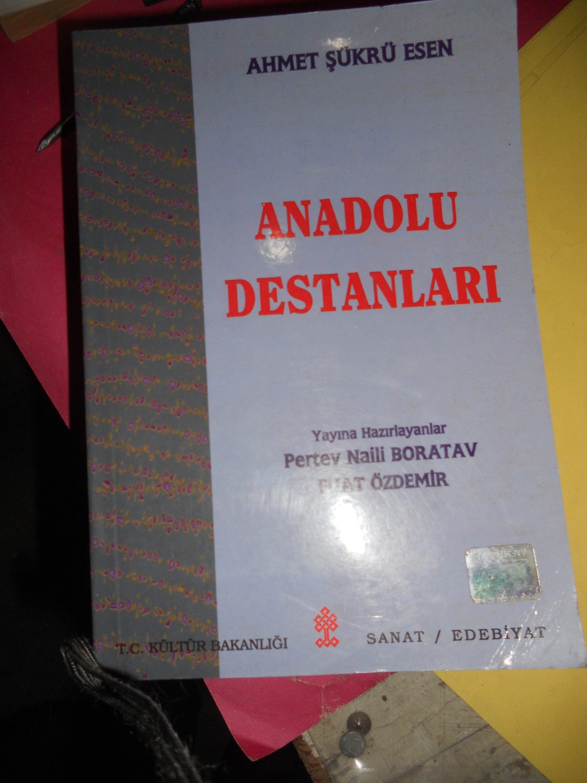 ANADOLU DESTANLARI/AHMET ŞÜKRÜ ESEN/10 TL