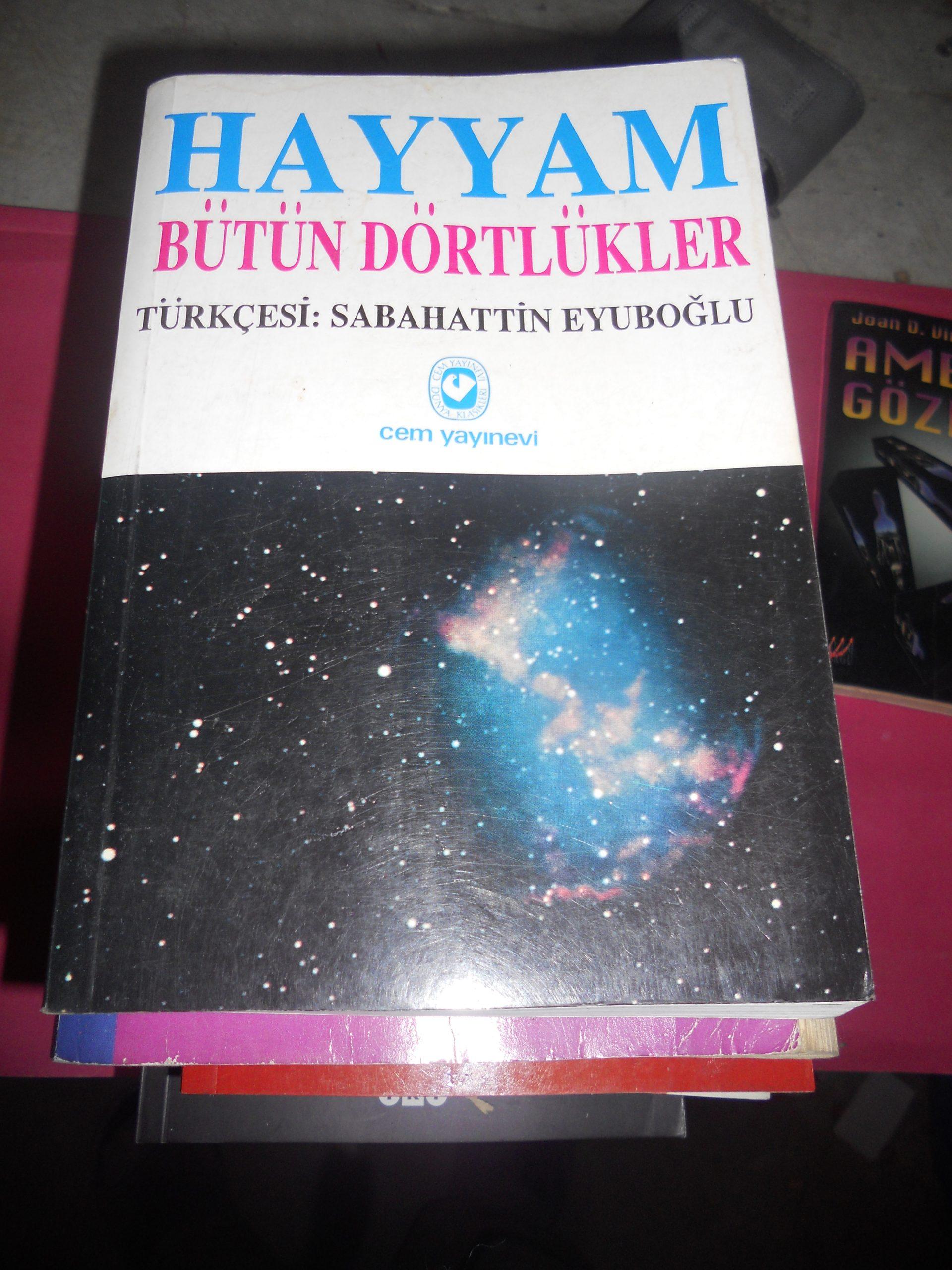 HAYYAM BÜTÜN DÖRTLÜKLER/ÇEV.S.EYUBOĞLU/15 TL