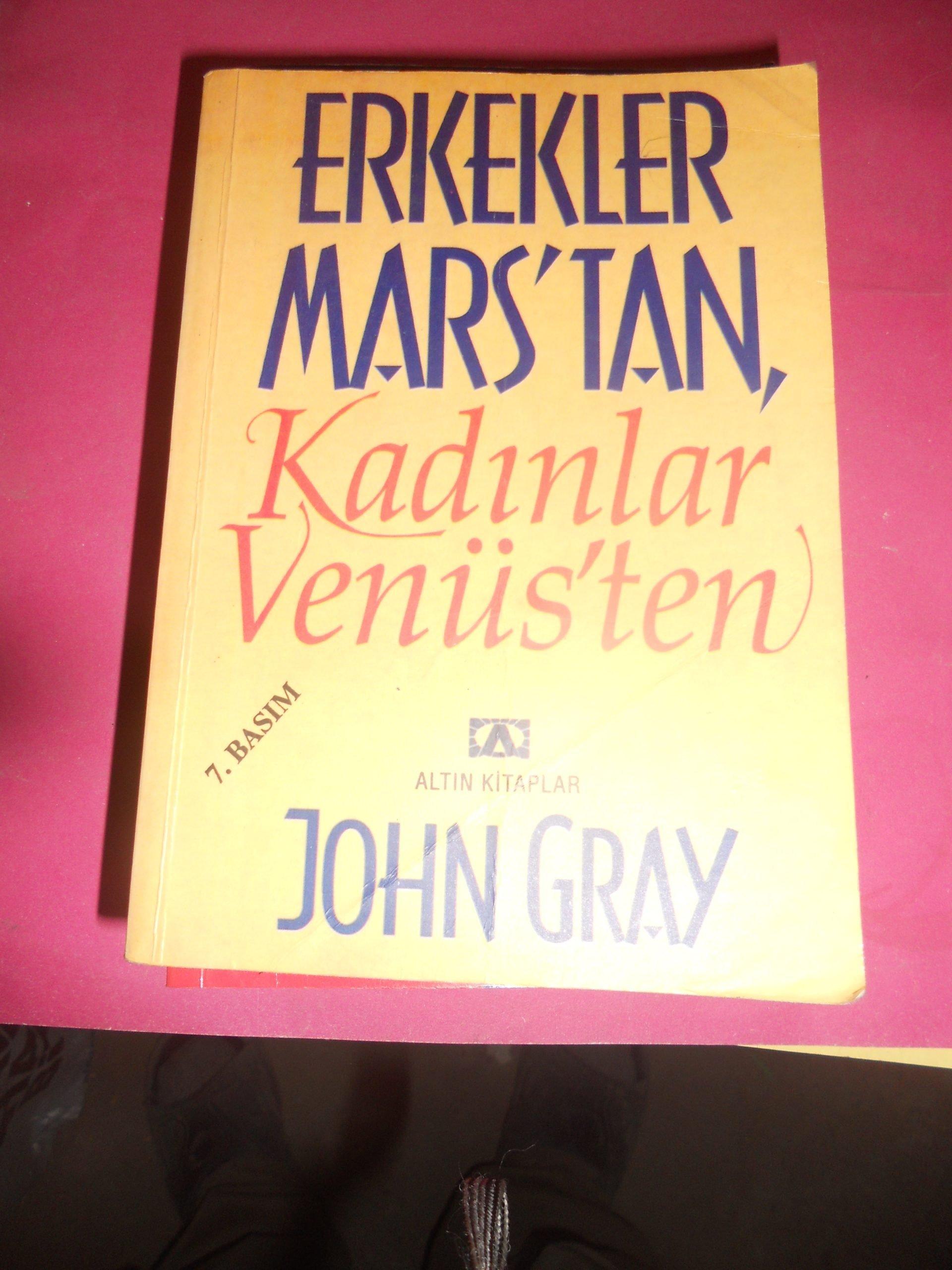 ERKEKLER MARS'TAN,KADINLAR VENÜS'TEN/ John GRAY/10 TL