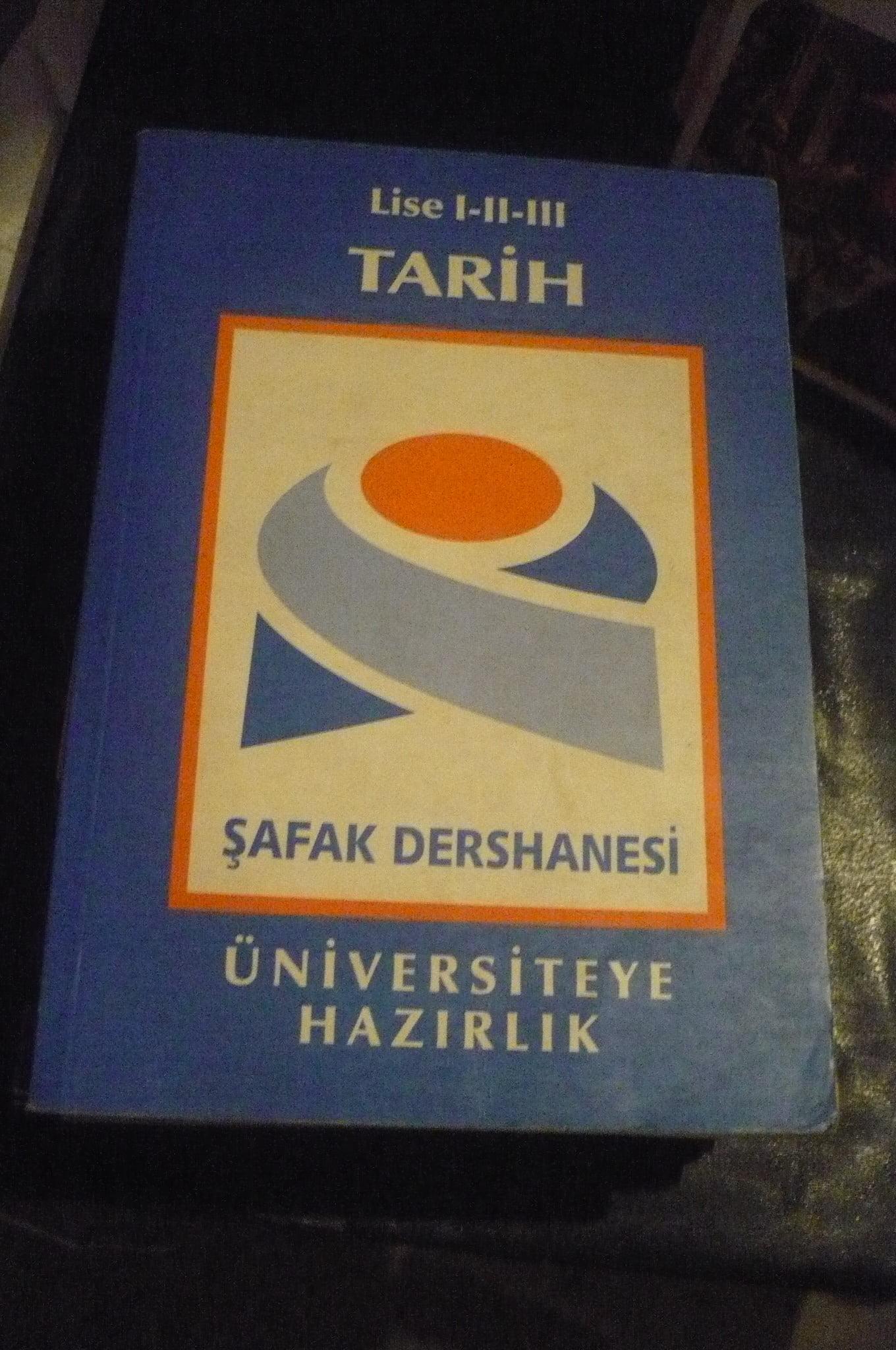 TARİH-Lise I-II-III /Üniversiteye hazırlık/ŞAFAK DERSHANESİ/10 TL