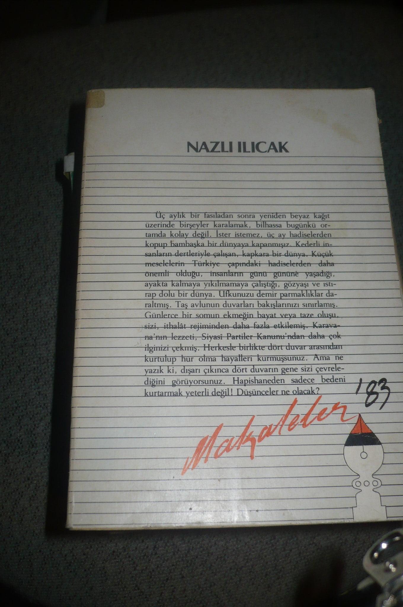 MAKALELER 1983/Nazlı ılıcak/15 tl