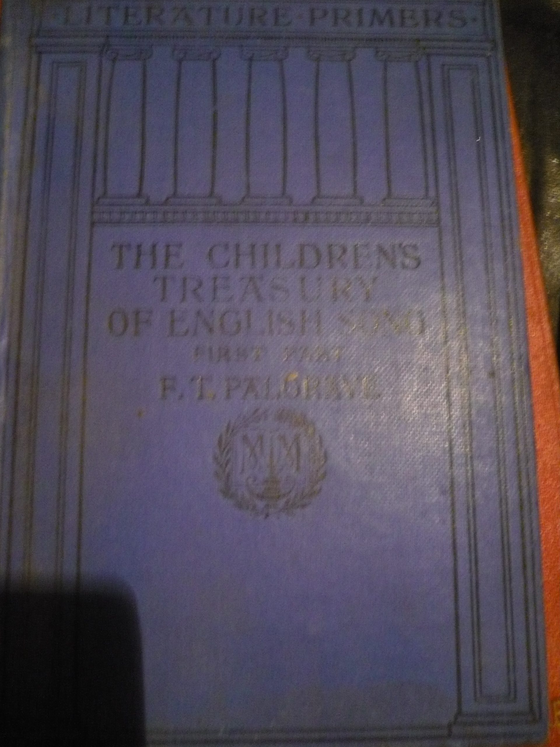The children's treasury of English song by Francis Turner Palgrave/1910 basım/20 tl