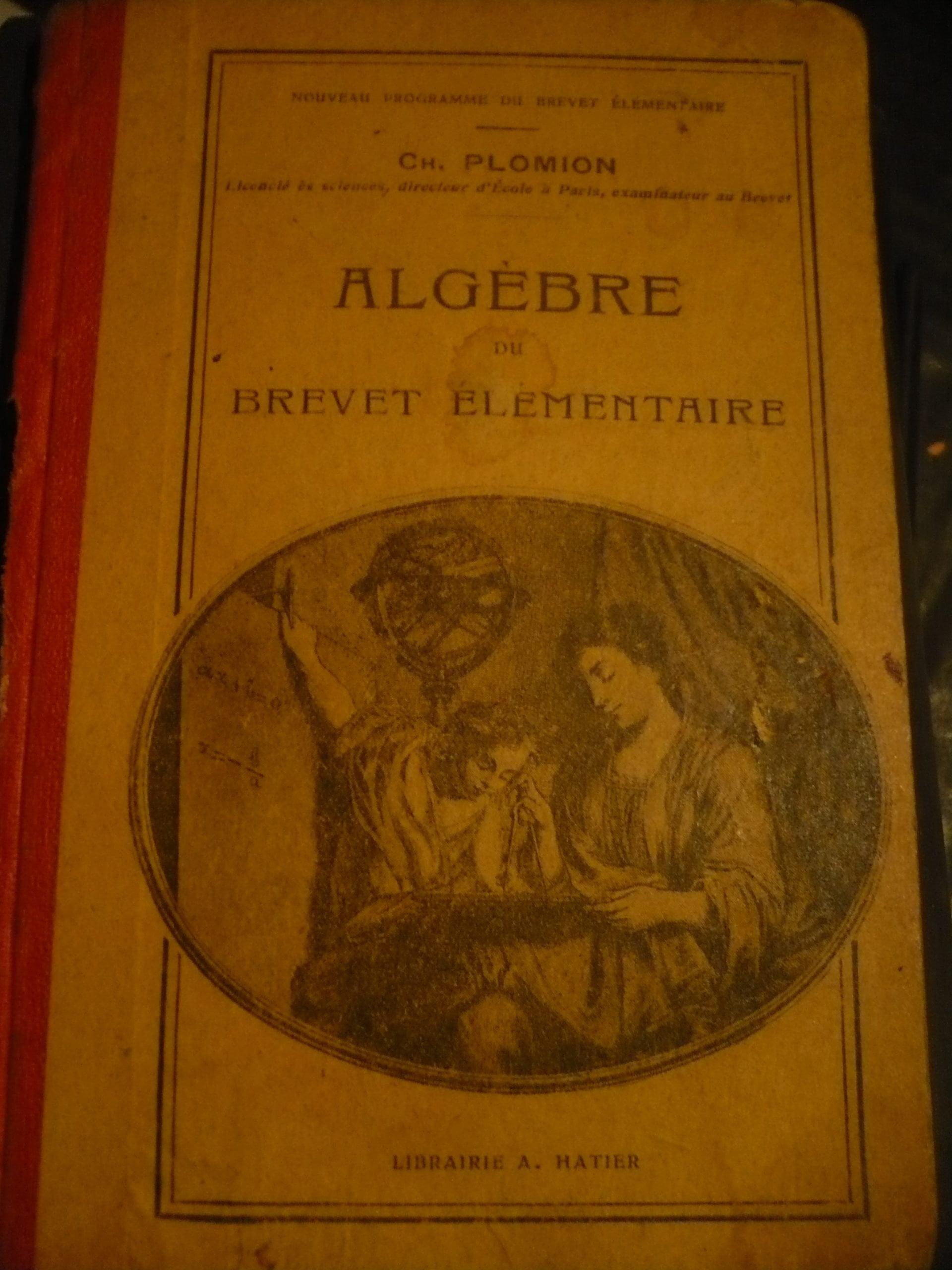 ALGEBRE Brevet elementaıre/Ch.PLOMION/50 TL