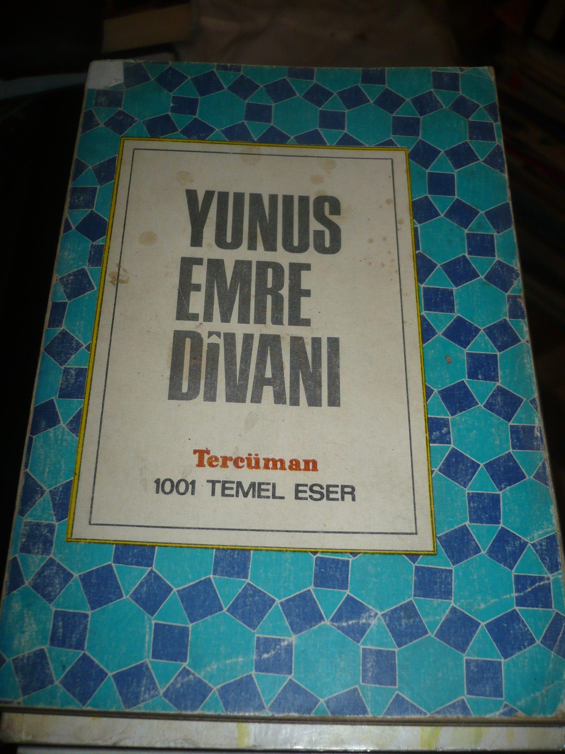 YUNUS EMRE DİVANI/ FARUK K. TİMURTAŞ/TERCÜMAN 1001 TEMEL ESER/10 TL