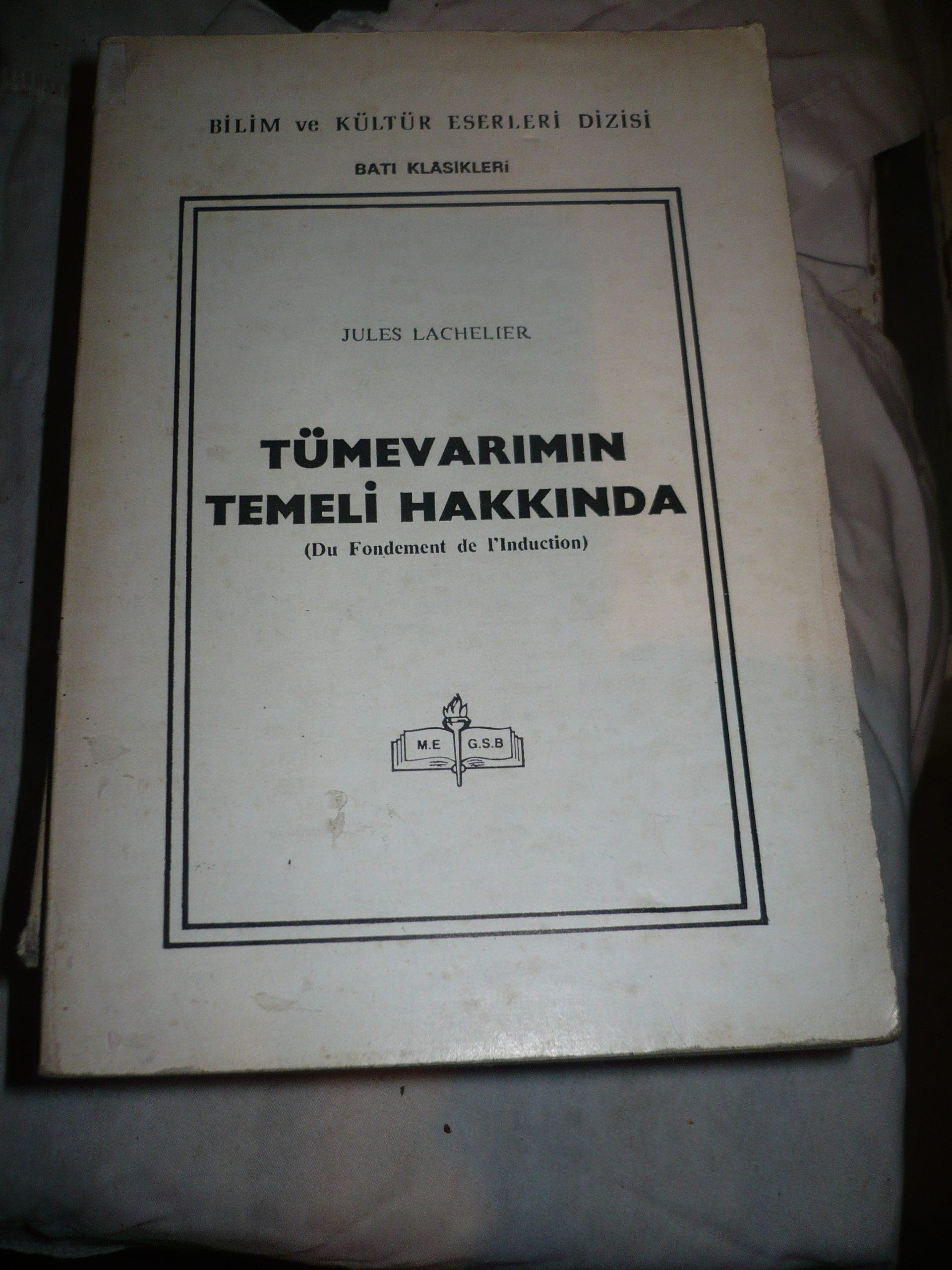 TÜMEVARIMIN TEMELİ HAKKINDA/JULES LACHELIER/15 TL
