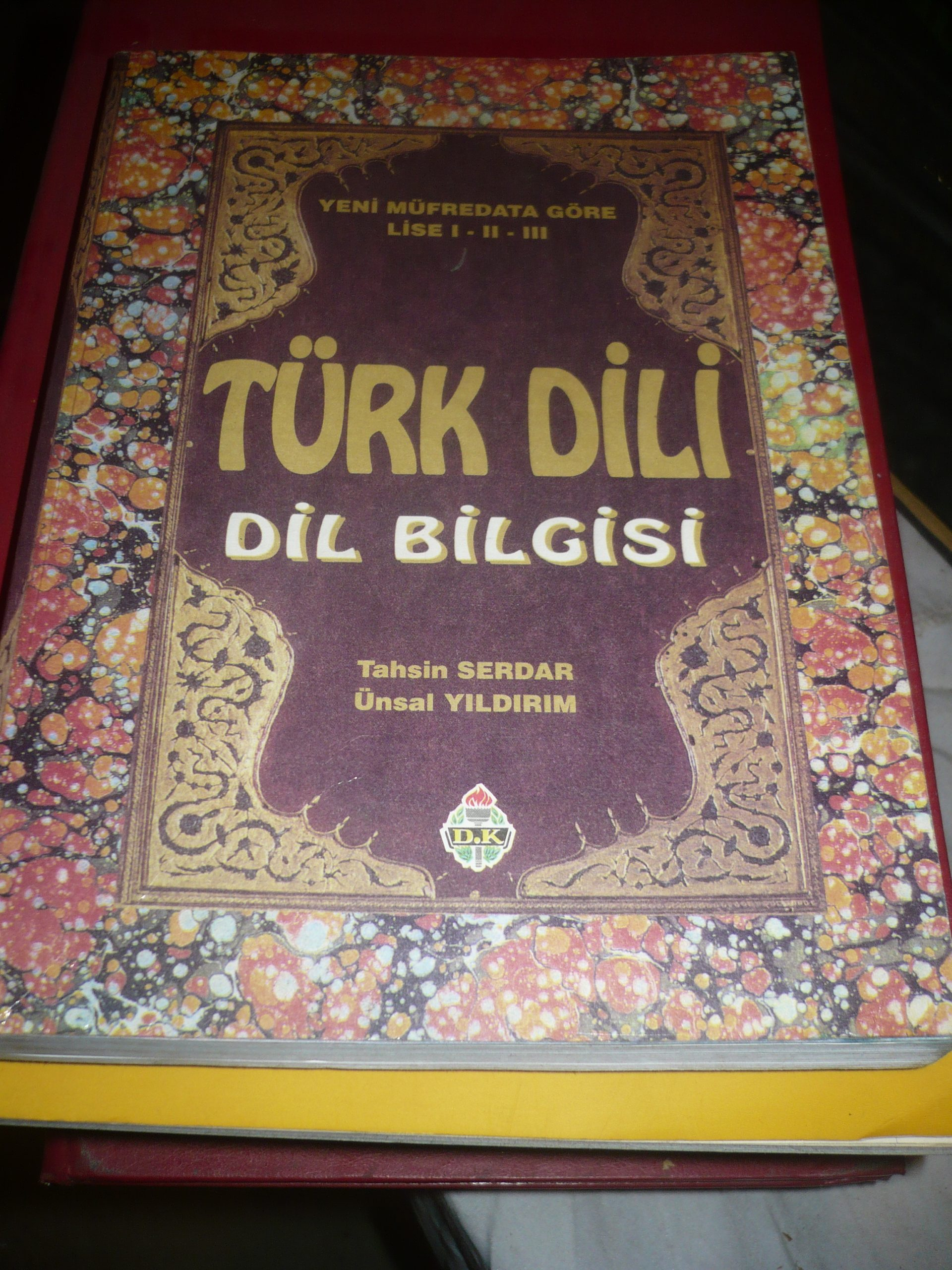 TÜRK DİLİ  -DİL BİLGİSİ/Tahsin SERDAR-Ünsal YILDIRIM/ 20 TL