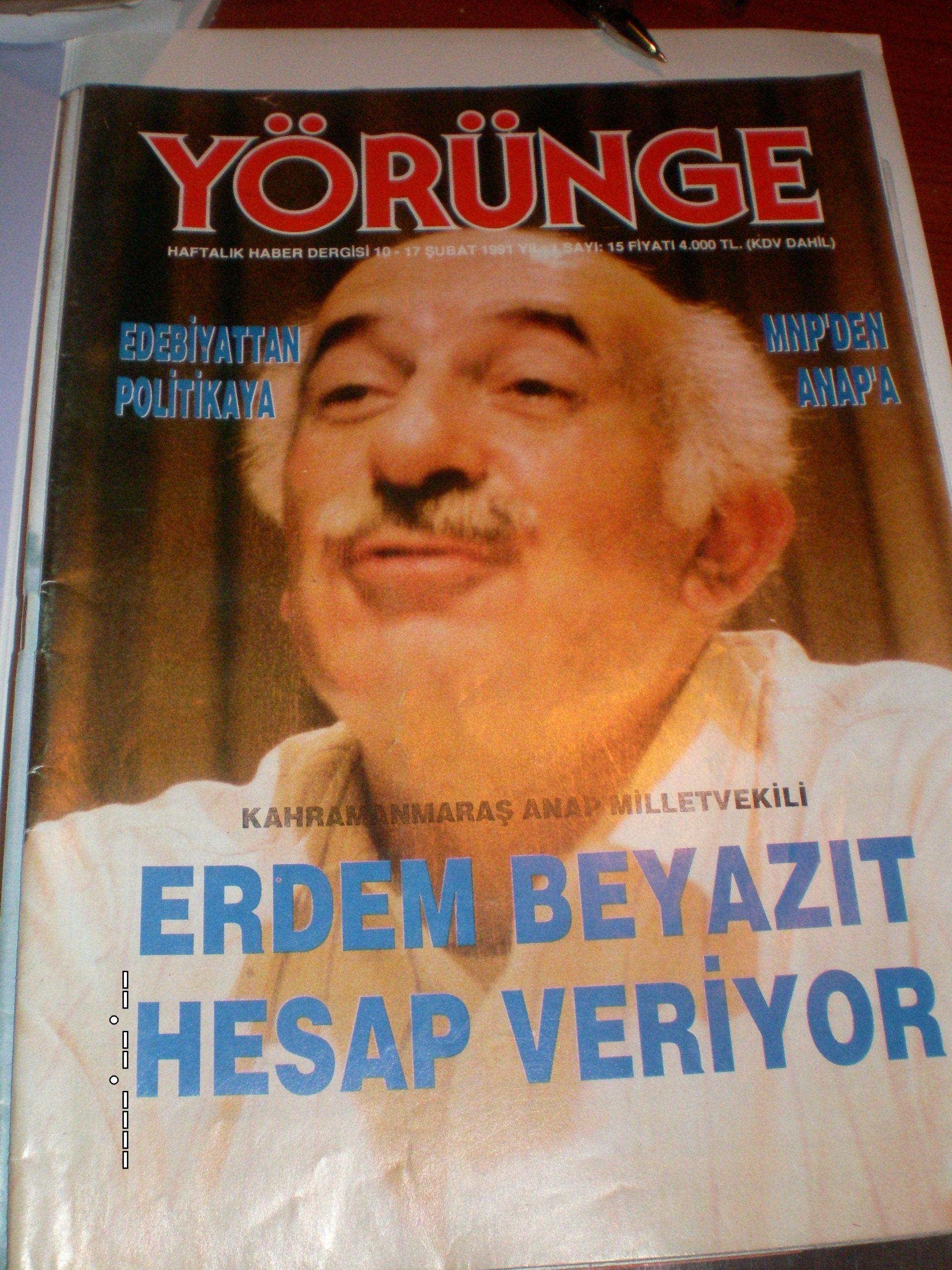 YÖRÜNGE DERGİSİ (1990-91)-7 ADET-Toplam.15 tl(Satıldı)