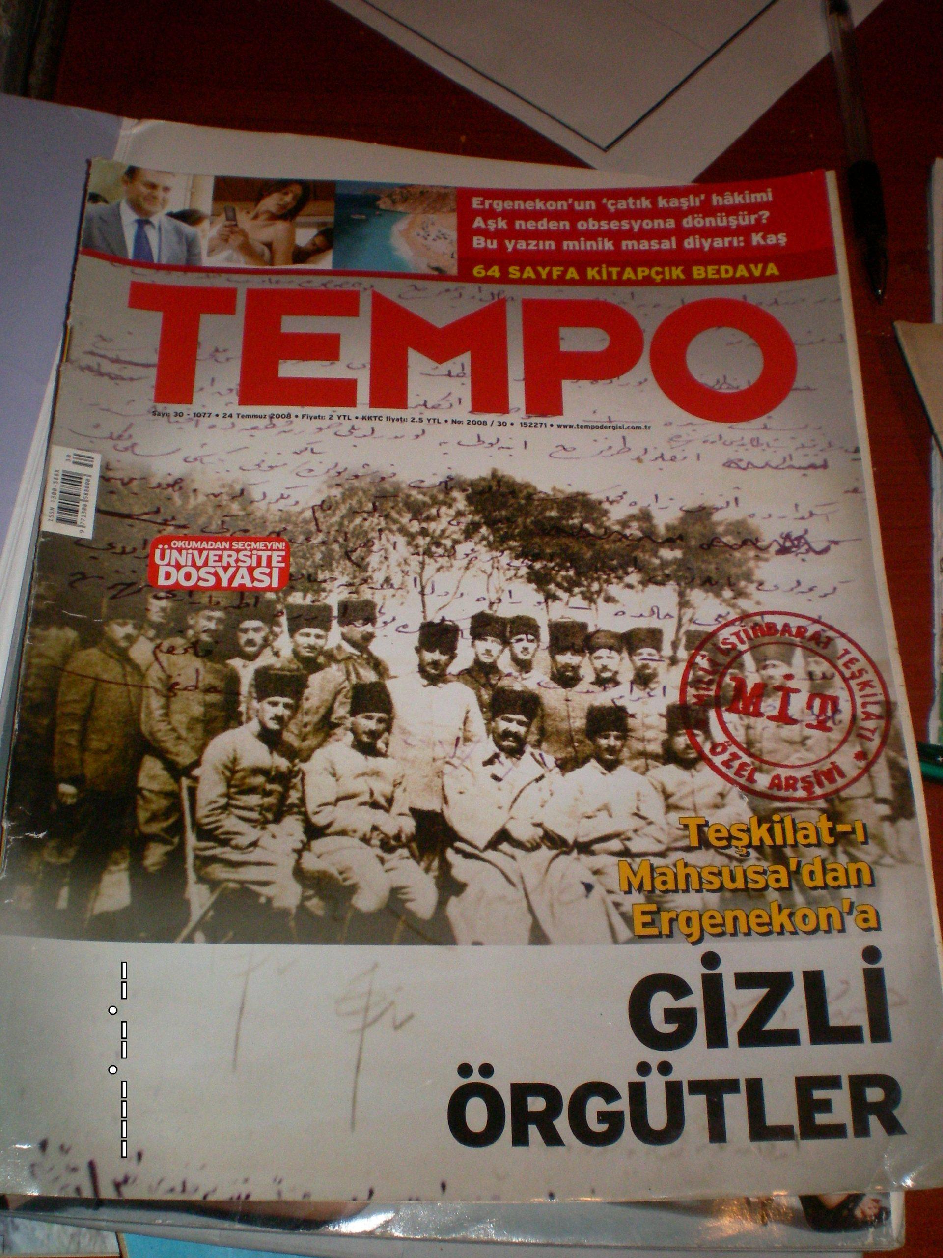 TEMPO DERGİSİ/1989-2009/5 adet/ toplam 20 tl