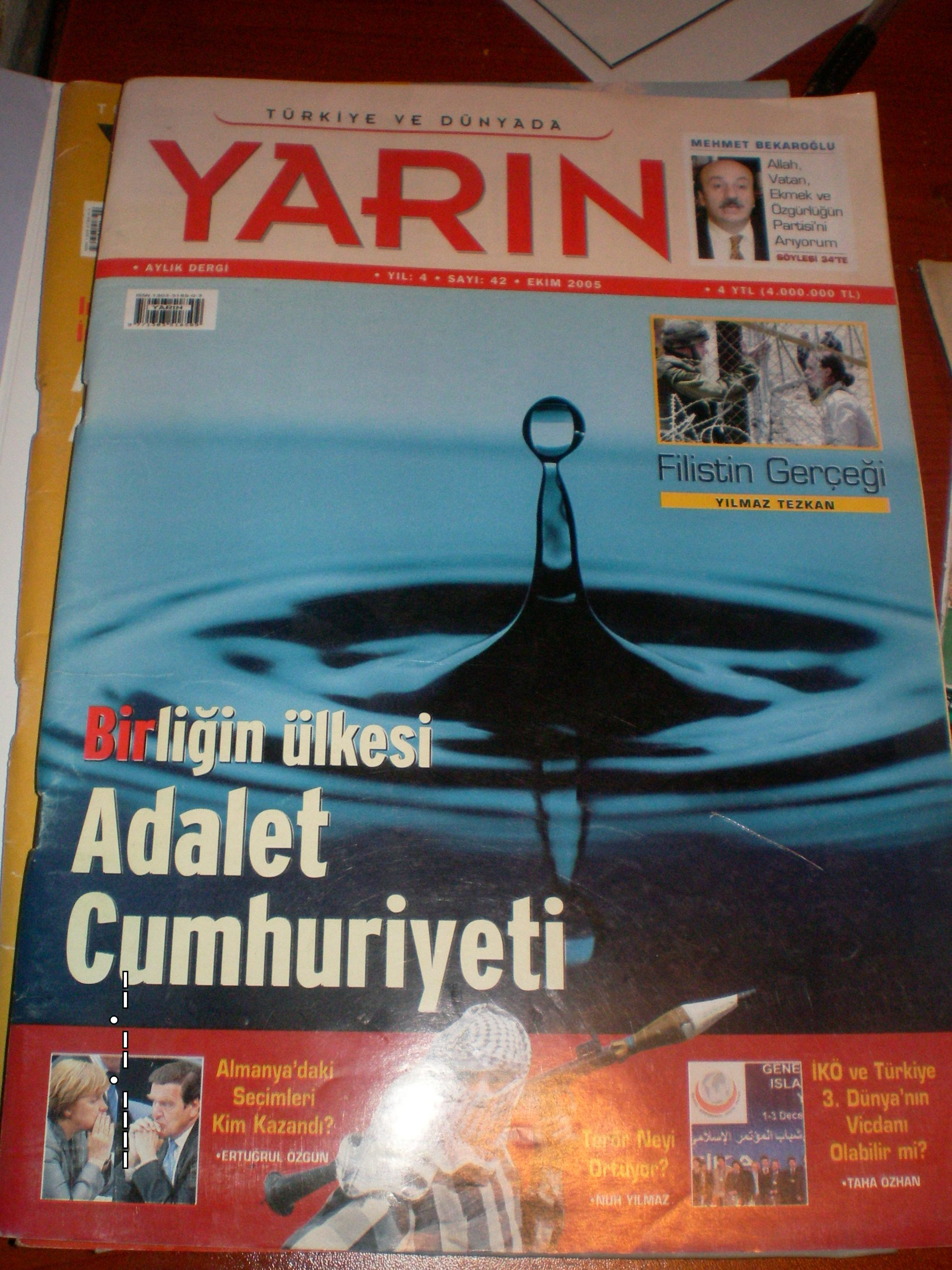 YARIN DERGİSİ/2005-2006/ 3 ADET/ toplam 15TL