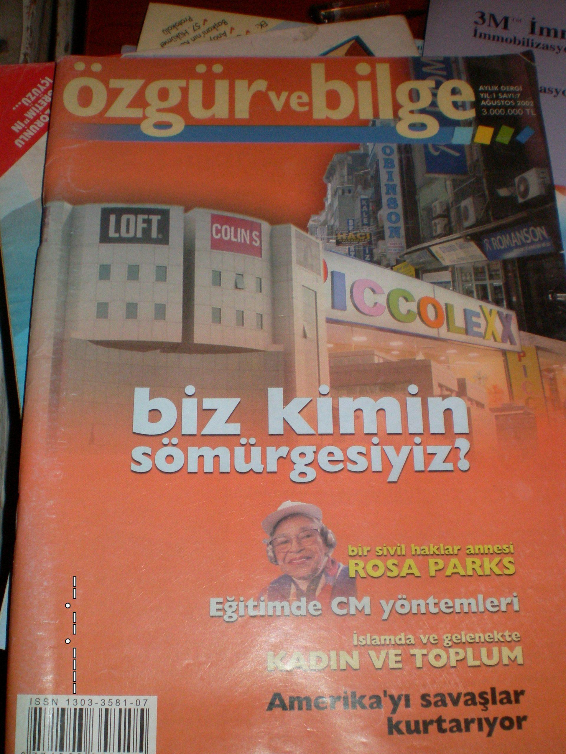 ÖZGÜR VE BİLGE DERGİSİ/ 2002/2 adet/toplam15 tl