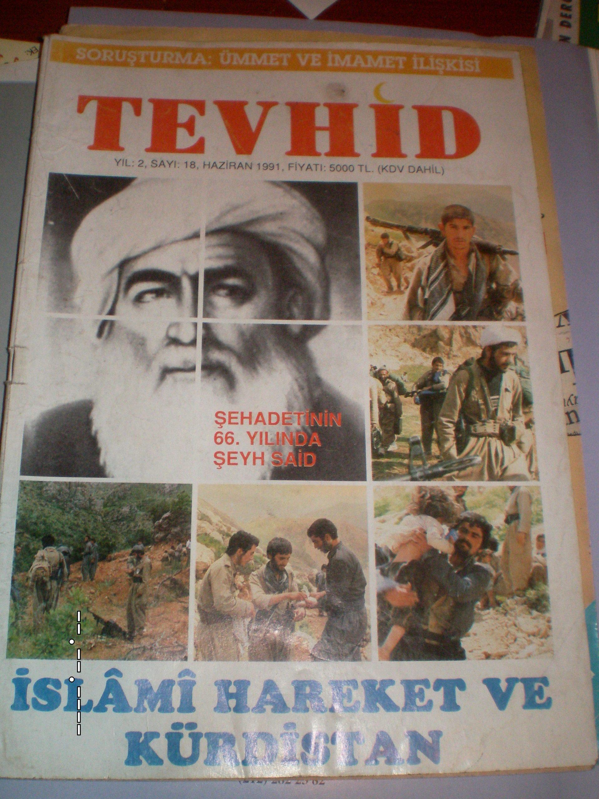 TEVHİD DERGİSİ/1991/5 Adet/ 25 tl