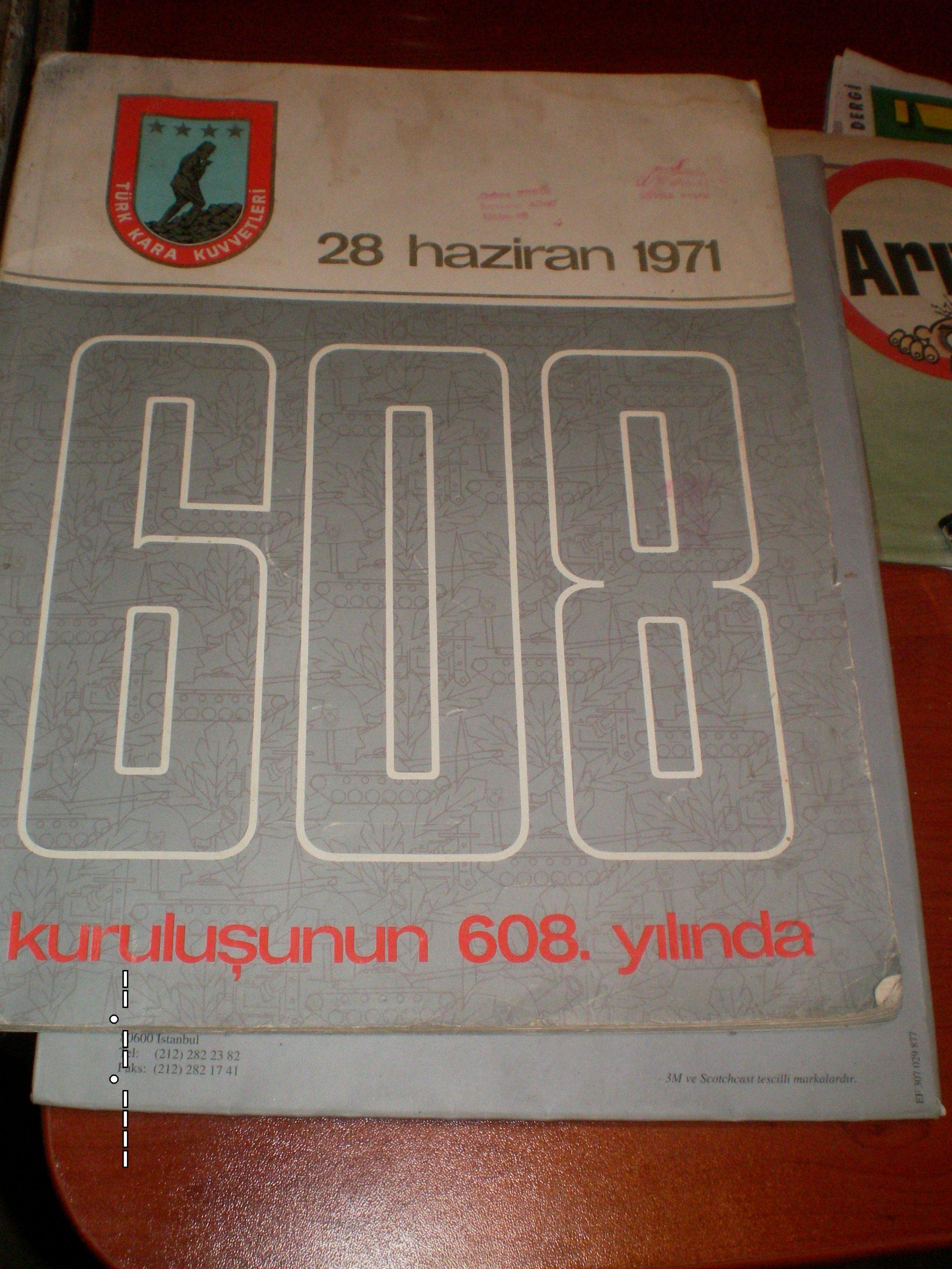 TSK DERGİSİ/TSK'nın kuruluşunun 608'inci yılı özel sayısı-1971-/ 25 tl