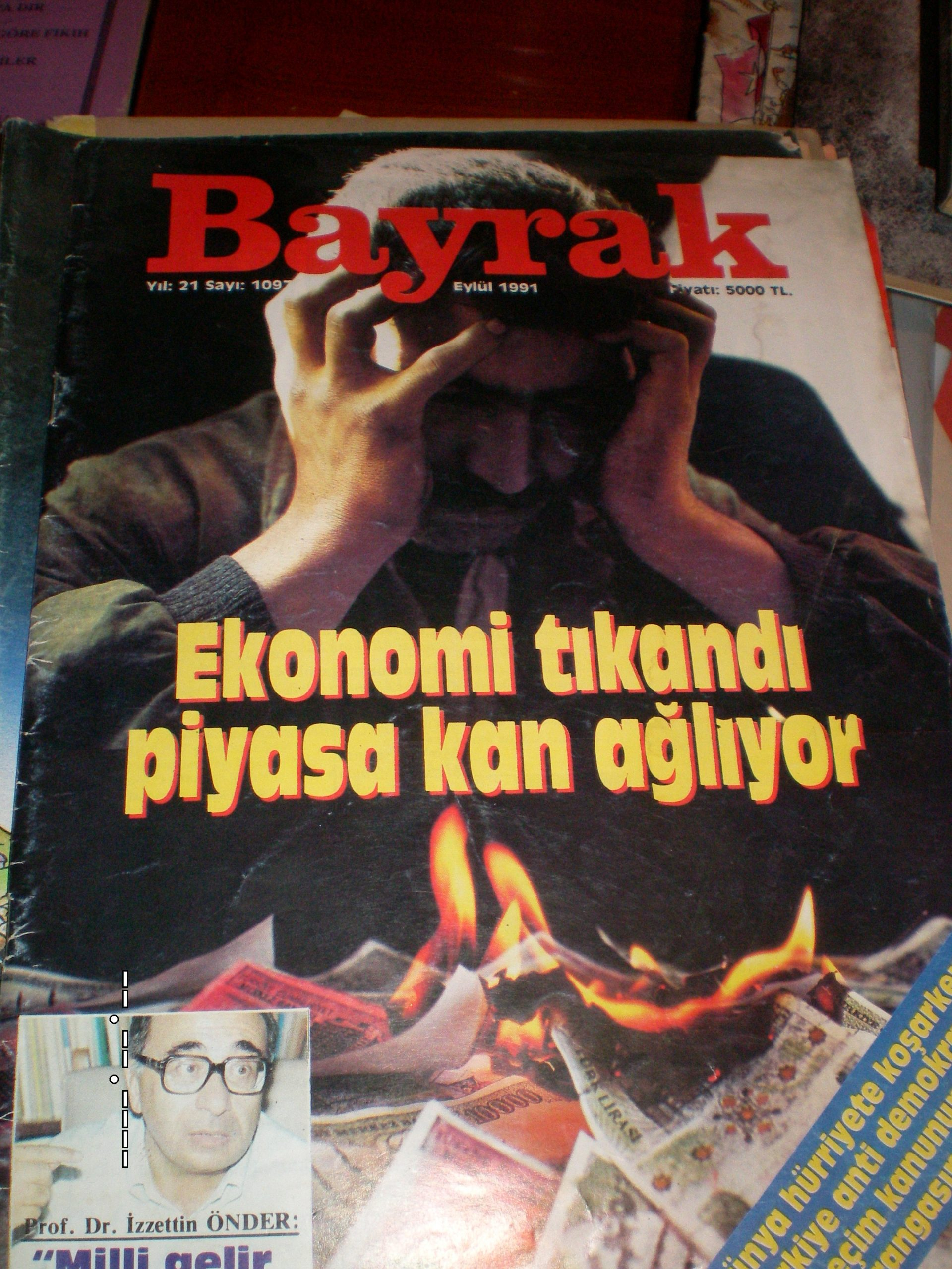 BAYRAK dergisi-sayı 1097,Eylül 1991/1 adet/ 5 tl