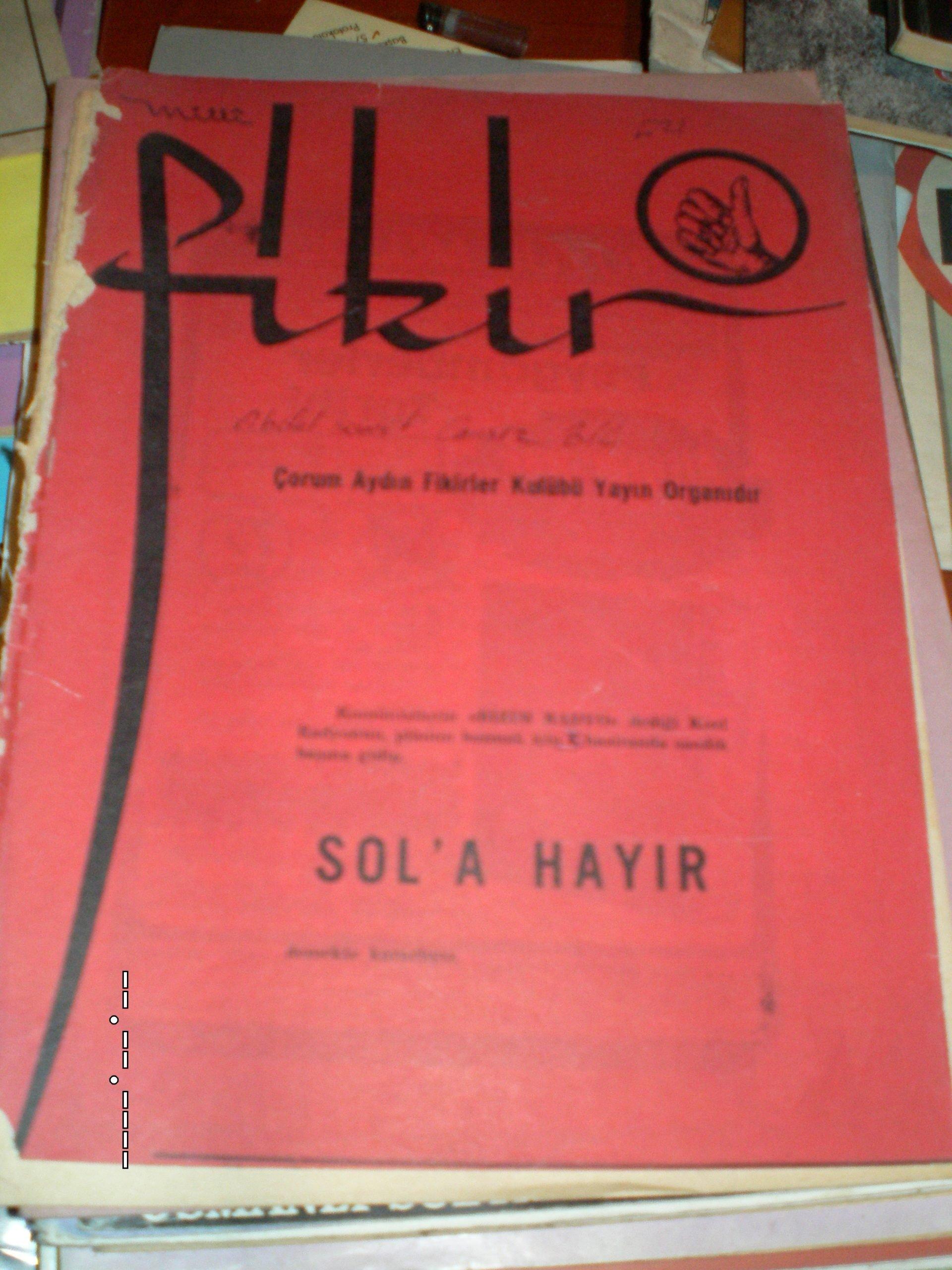 Milli FİKİR-Aylık dergi/ 10 tl