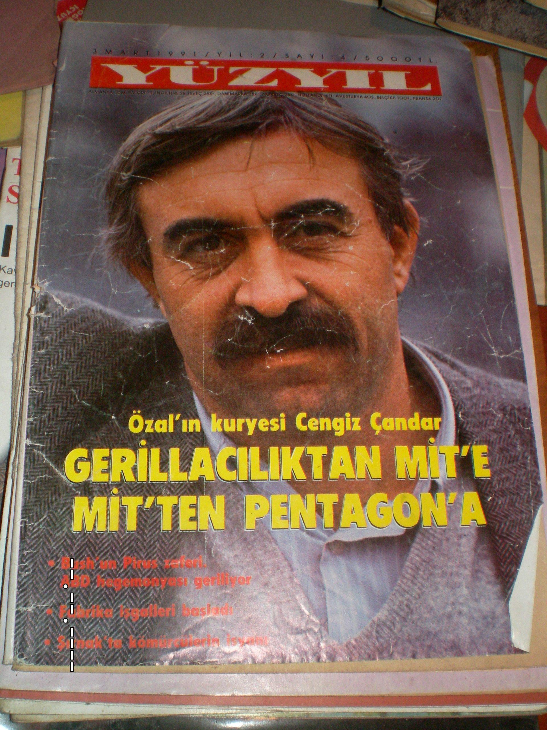 Yüzyıl dergisi(Cengiz Çandar özel sayı)-3 mart 1991-sayı 4/ 15tl