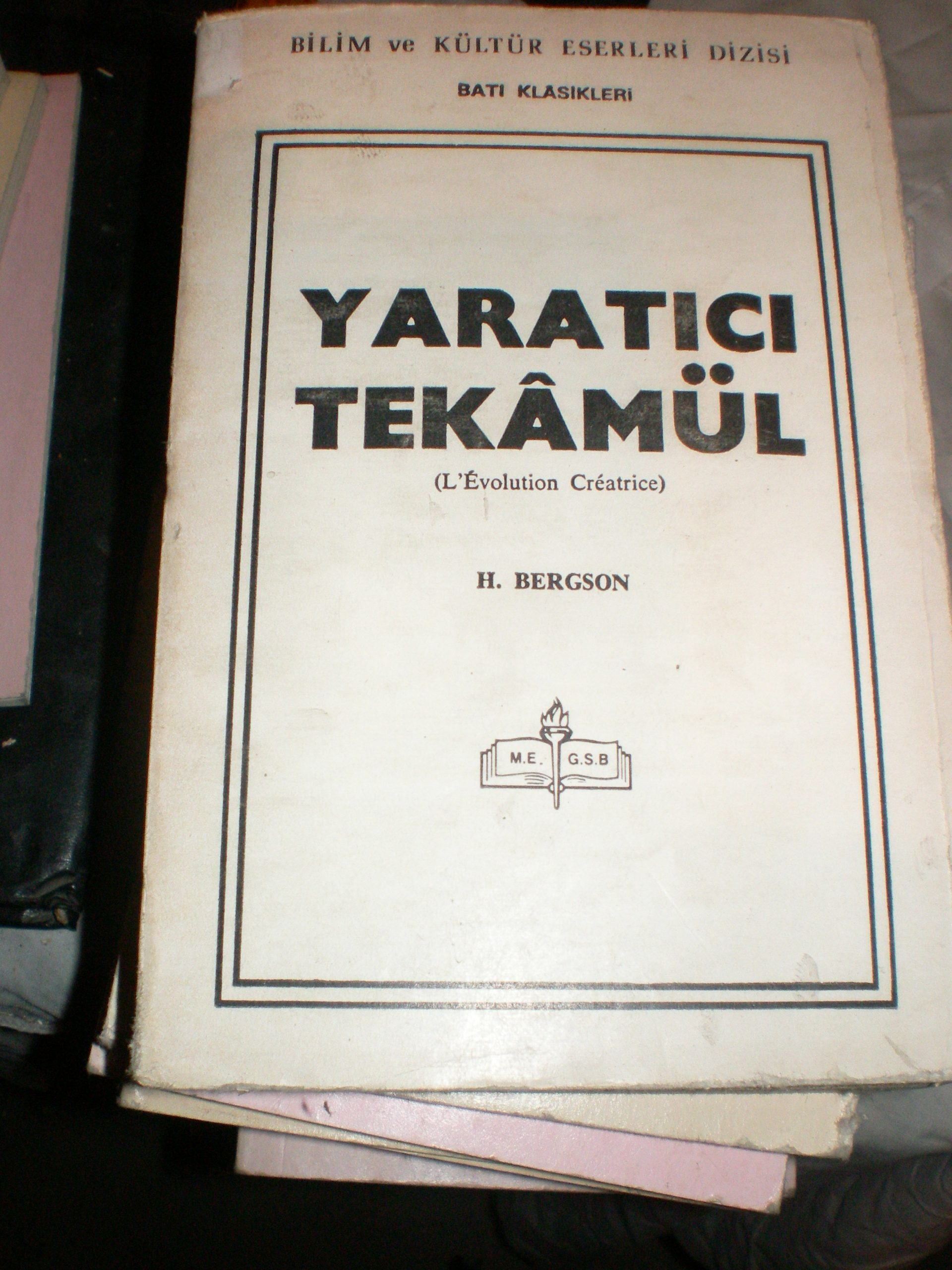 YARATICI TEKAMÜL/H.BERGSON/15 TL