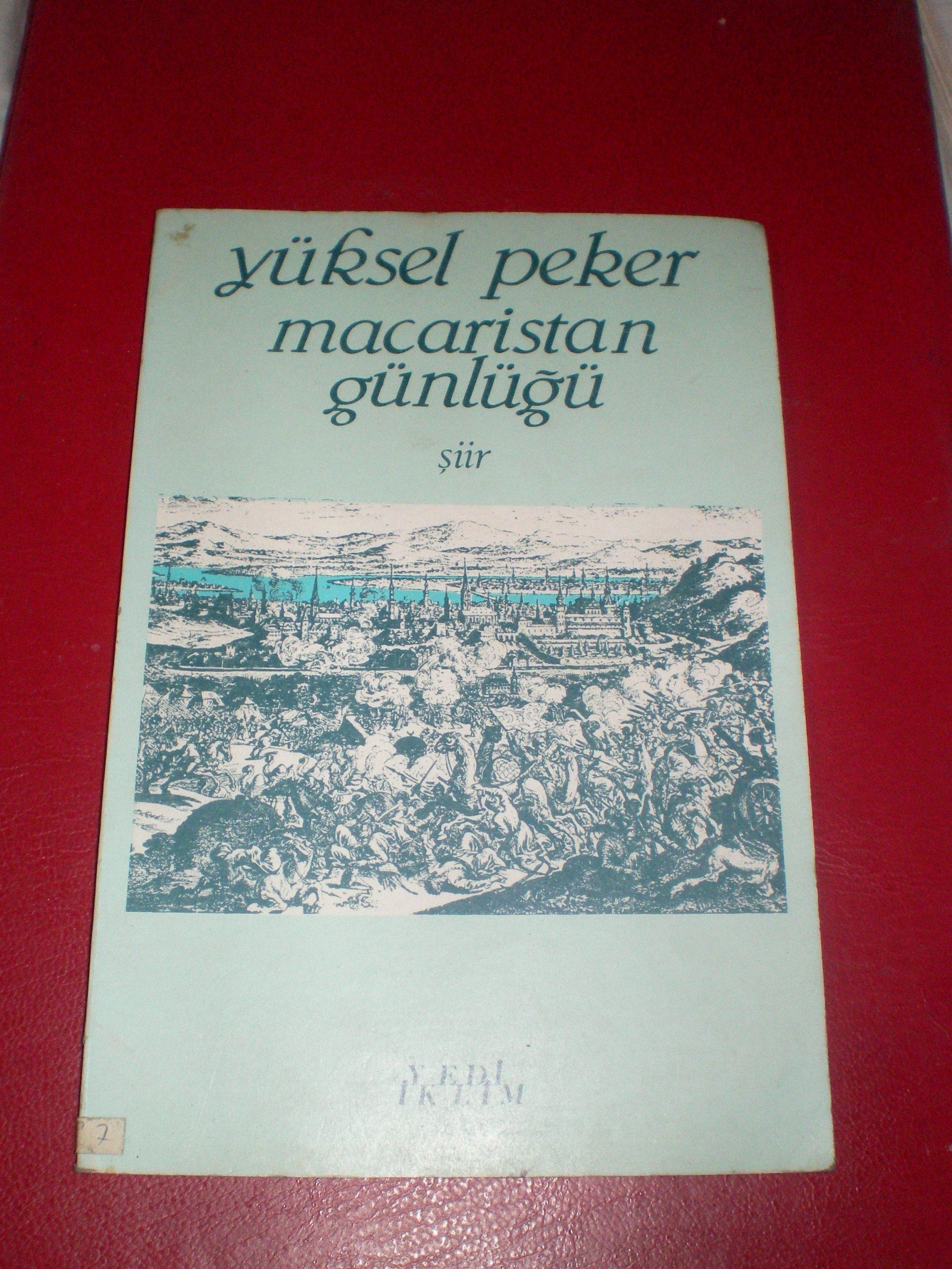 Macaristan Günlüğü/Yüksel PEKER/ 10 TL