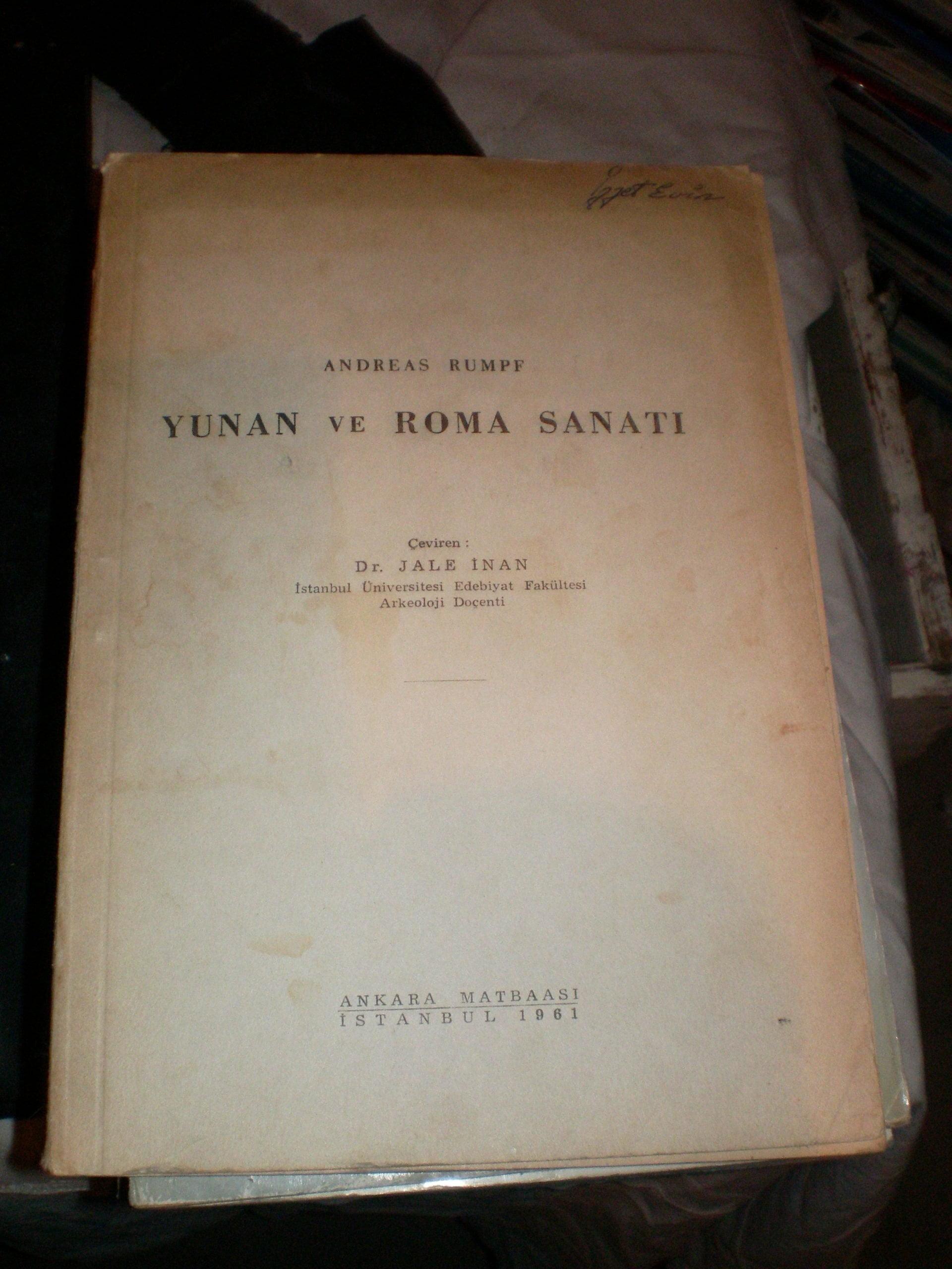 YUNAN ve ROMA SANATI/ANDREAS RUMPF/ 25 TL
