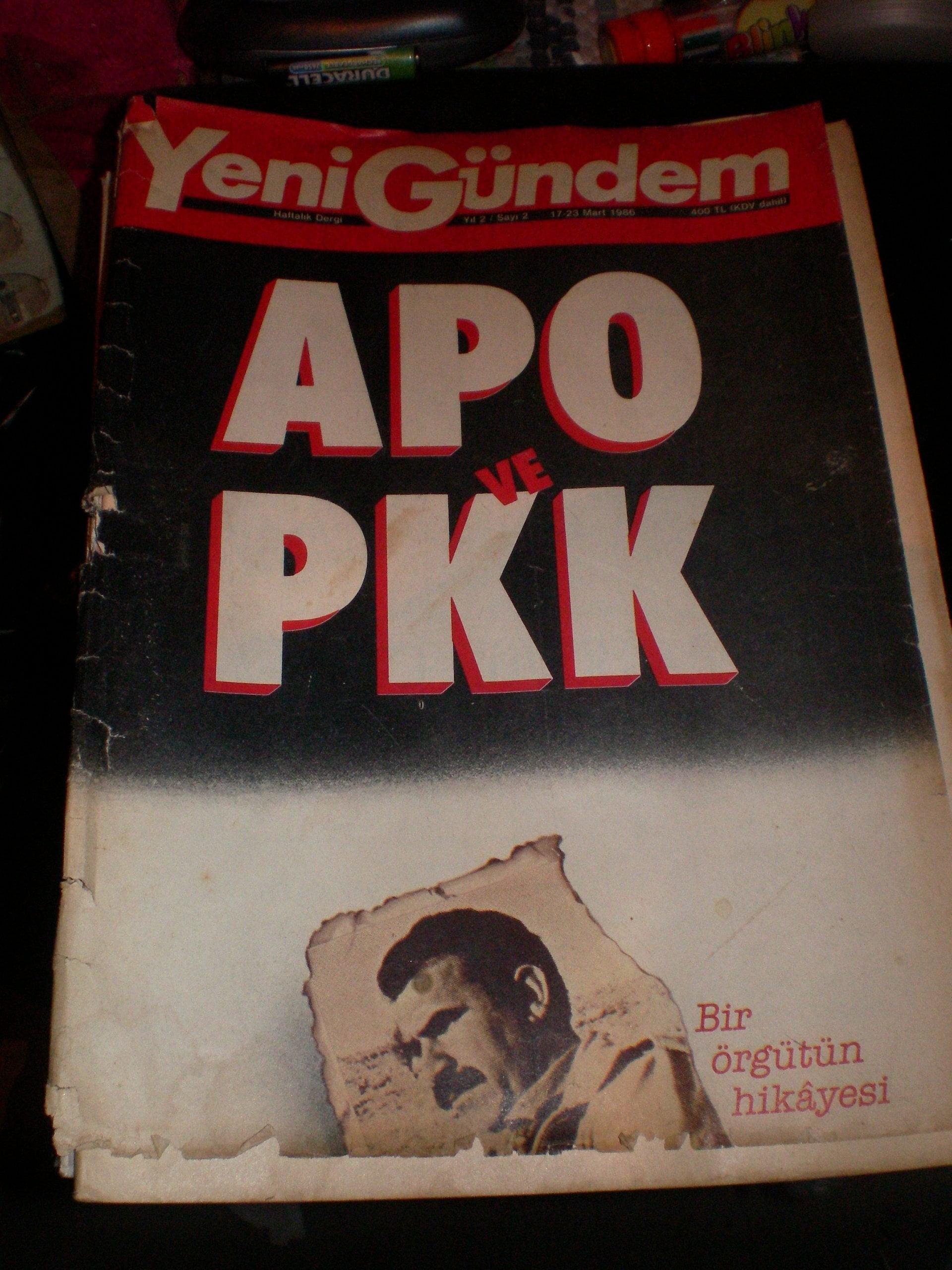 YENİ GÜNDEM DERGİSİ/1986 /17  ADET/ Toplam 150 TL