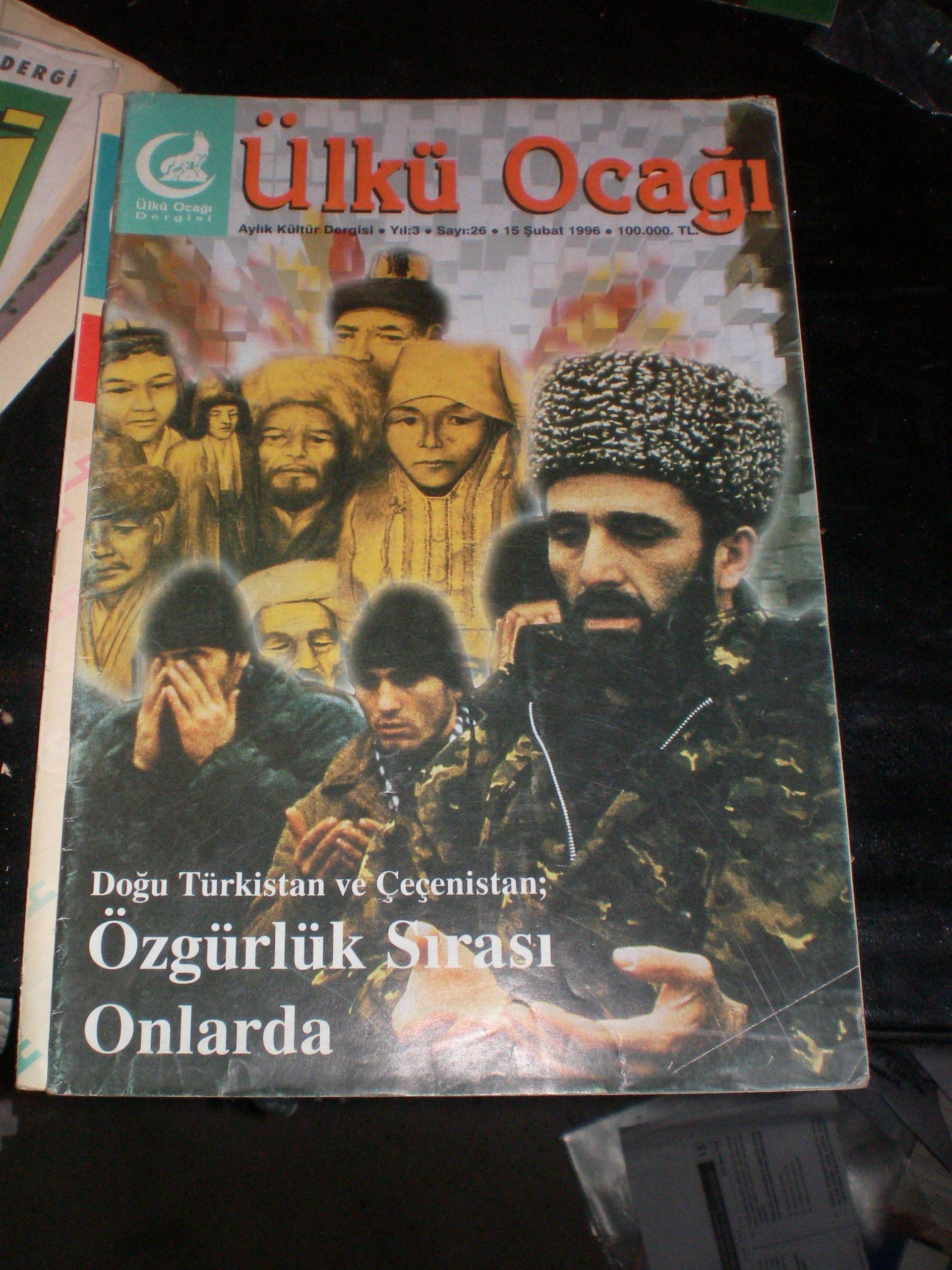 Ülkü ocakları dergileri-1996 yılı/7 adet/ toplam 35 tl