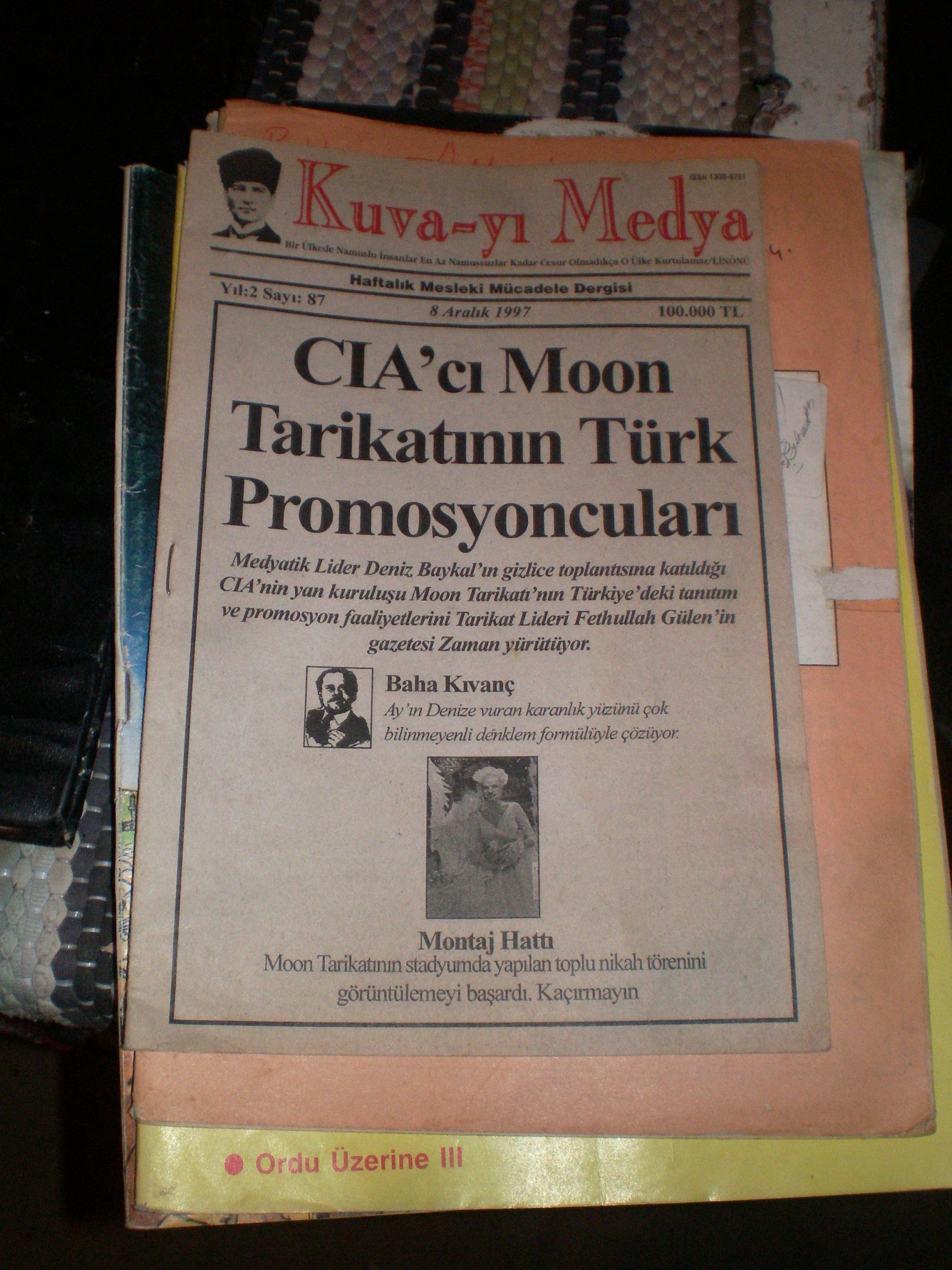 KUVA-YI MEDYA(8-aralık 1997) /5 tl
